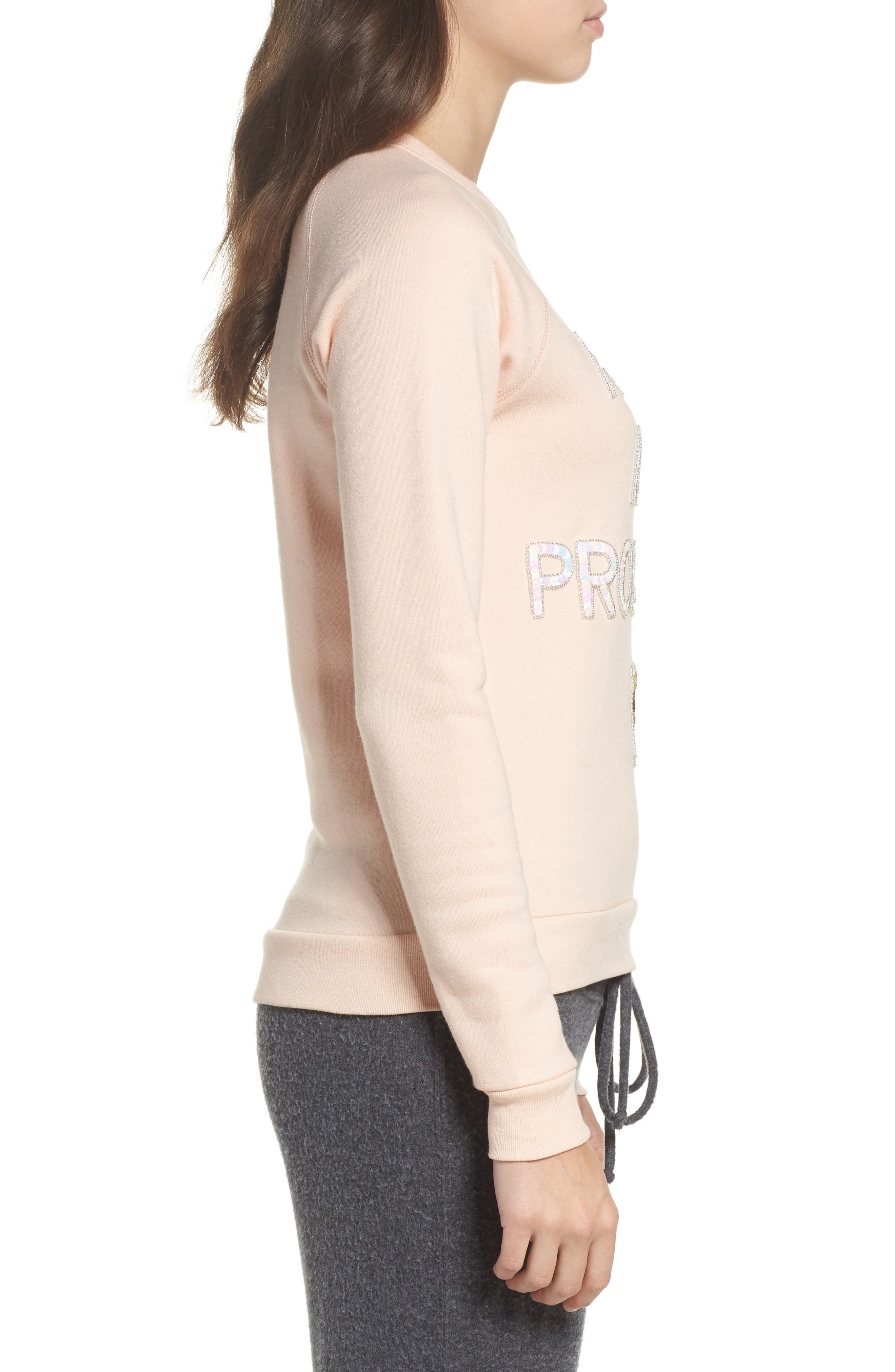 Ready in a Prosecco Sweatshirt,                             Alternate thumbnail 3, color,                             Blush