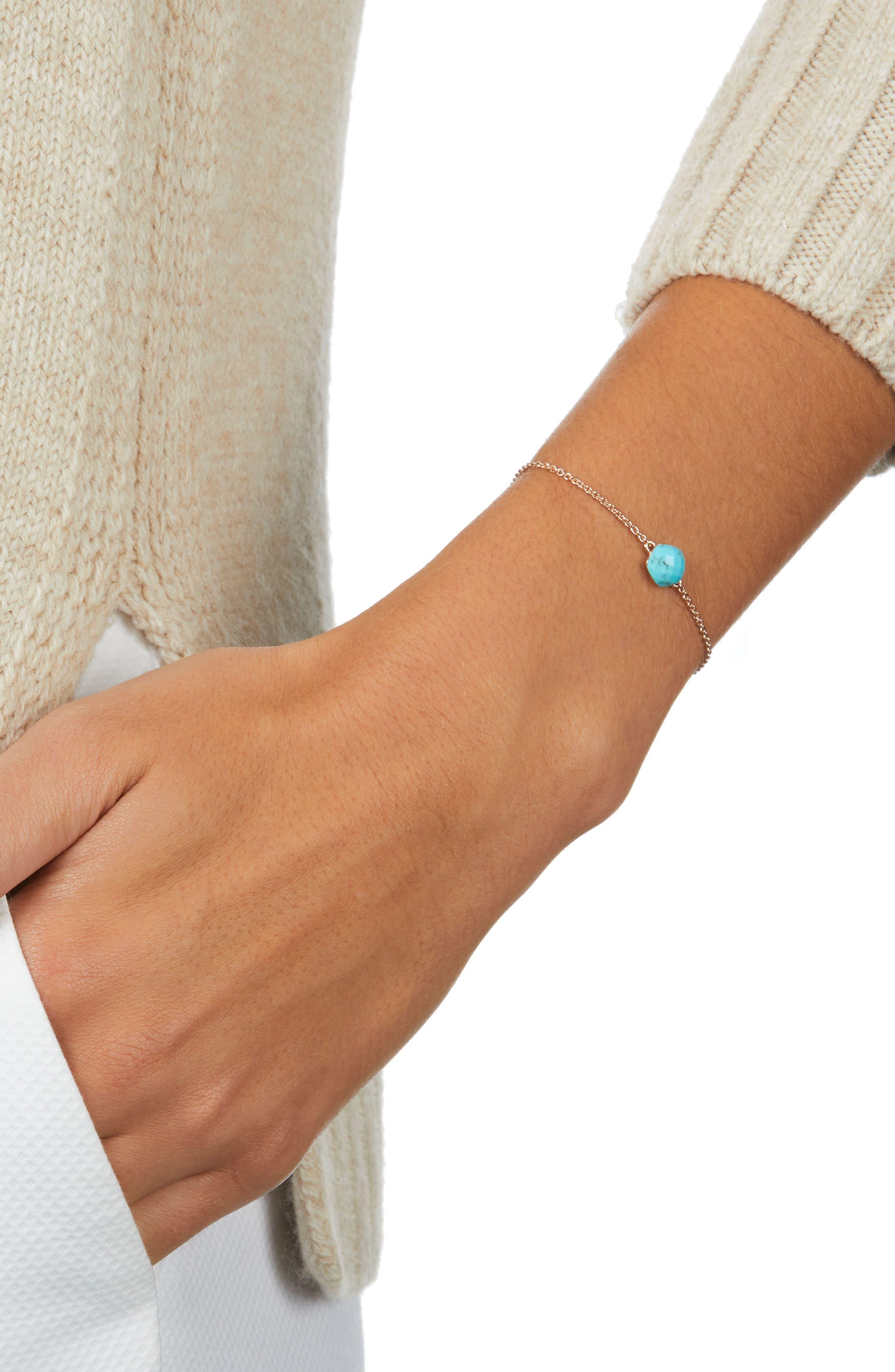 Nura Mini Nugget Bracelet,                             Alternate thumbnail 2, color,                             Turquoise