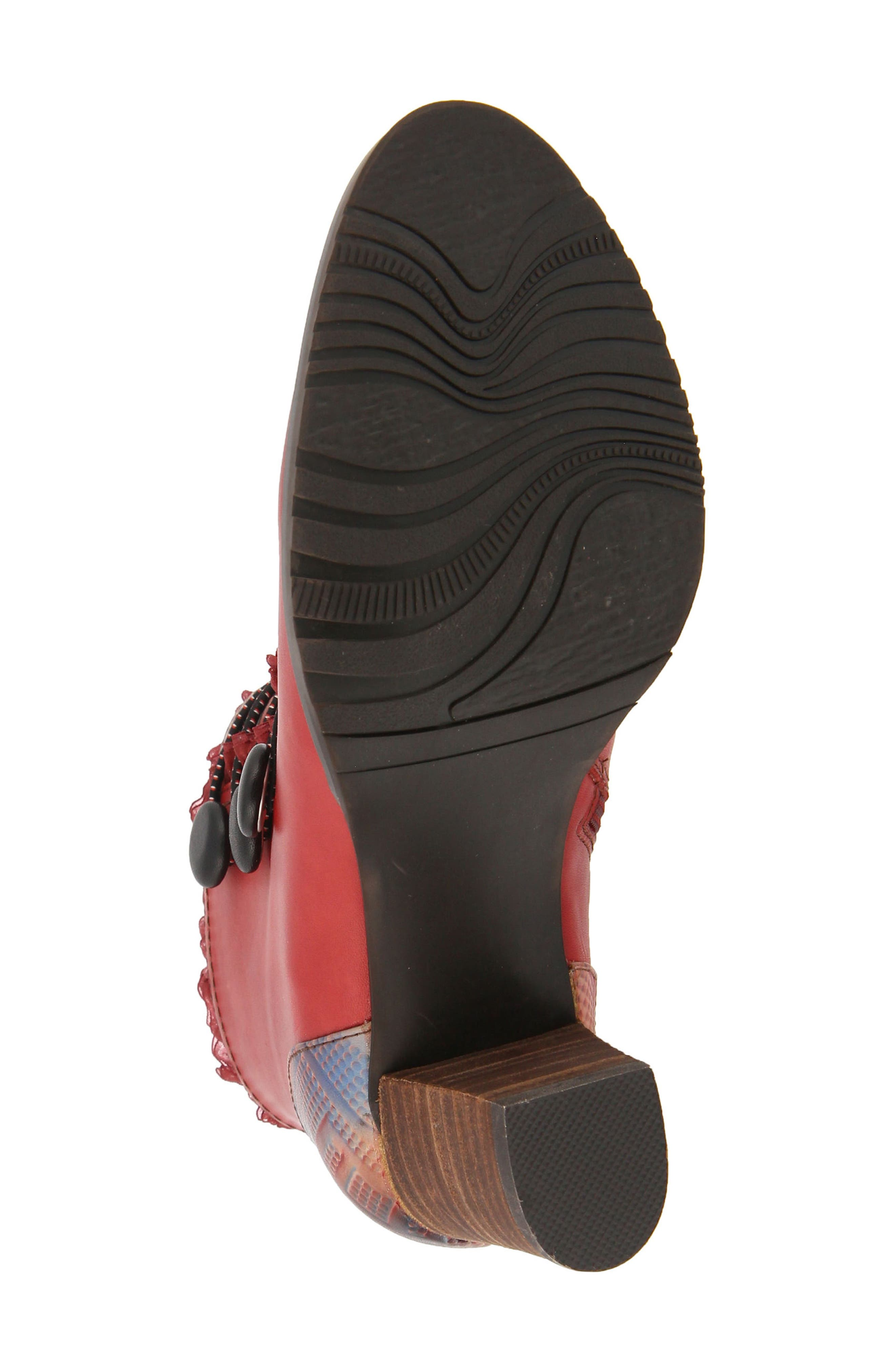 L'Artiste Conchita Boot,                             Alternate thumbnail 5, color,                             Red Leather