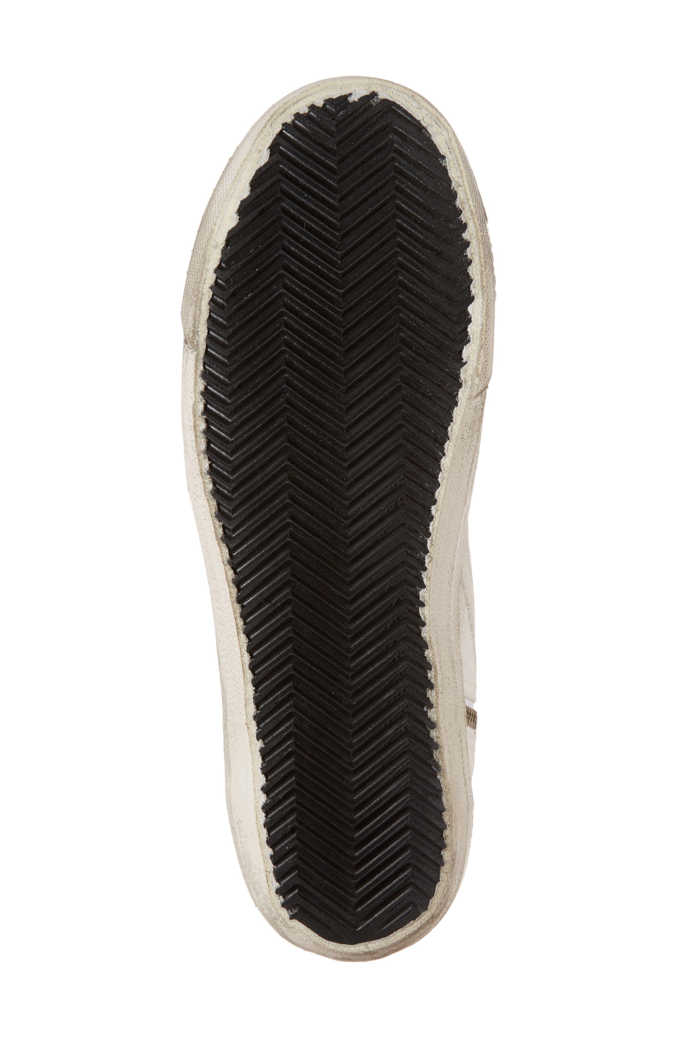 Slide High Top Sneaker,                             Alternate thumbnail 6, color,                             White/ Mint Green