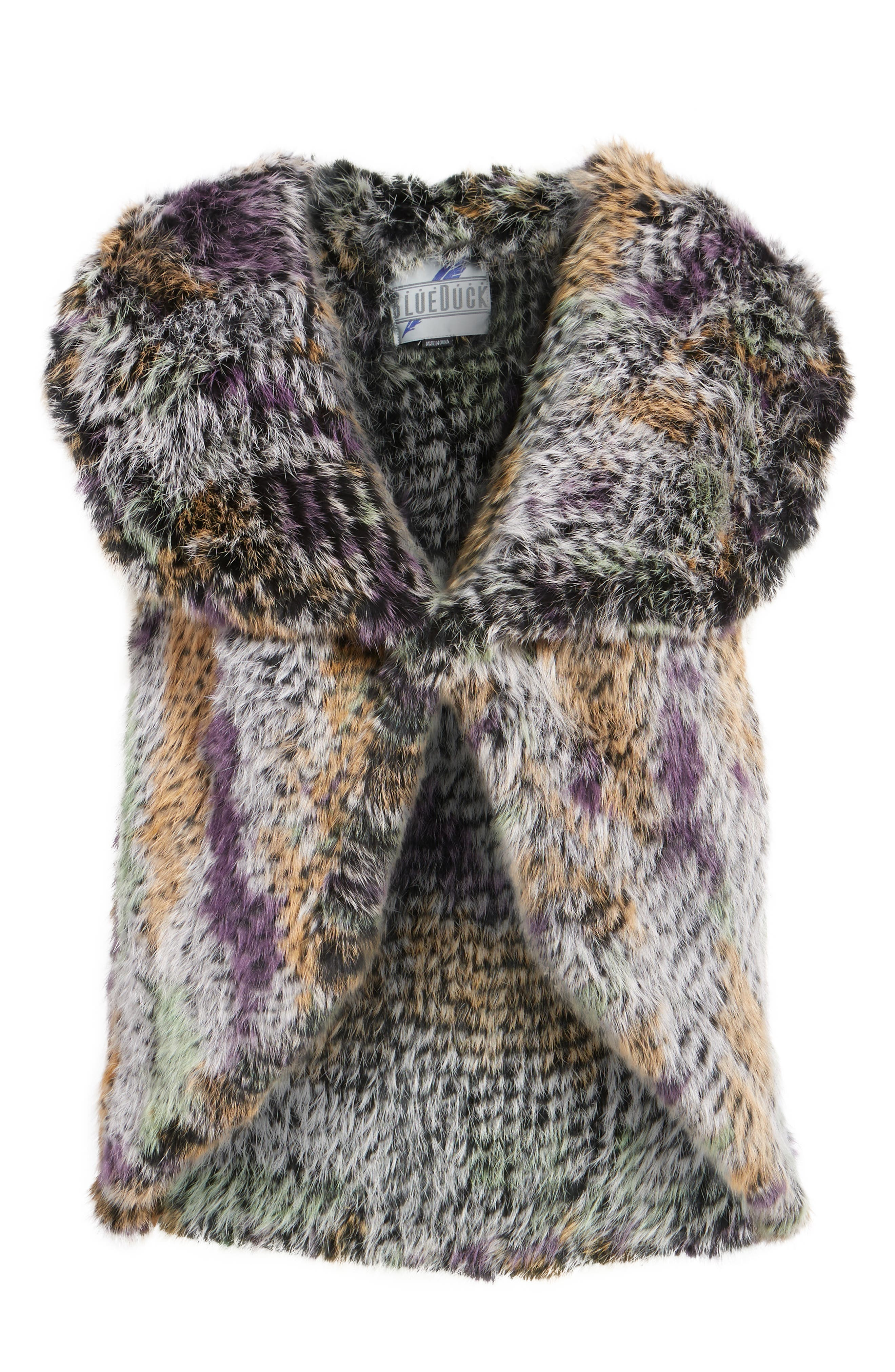 Alternate Image 6  - Blue Duck Woven Genuine Rabbit Fur Vest