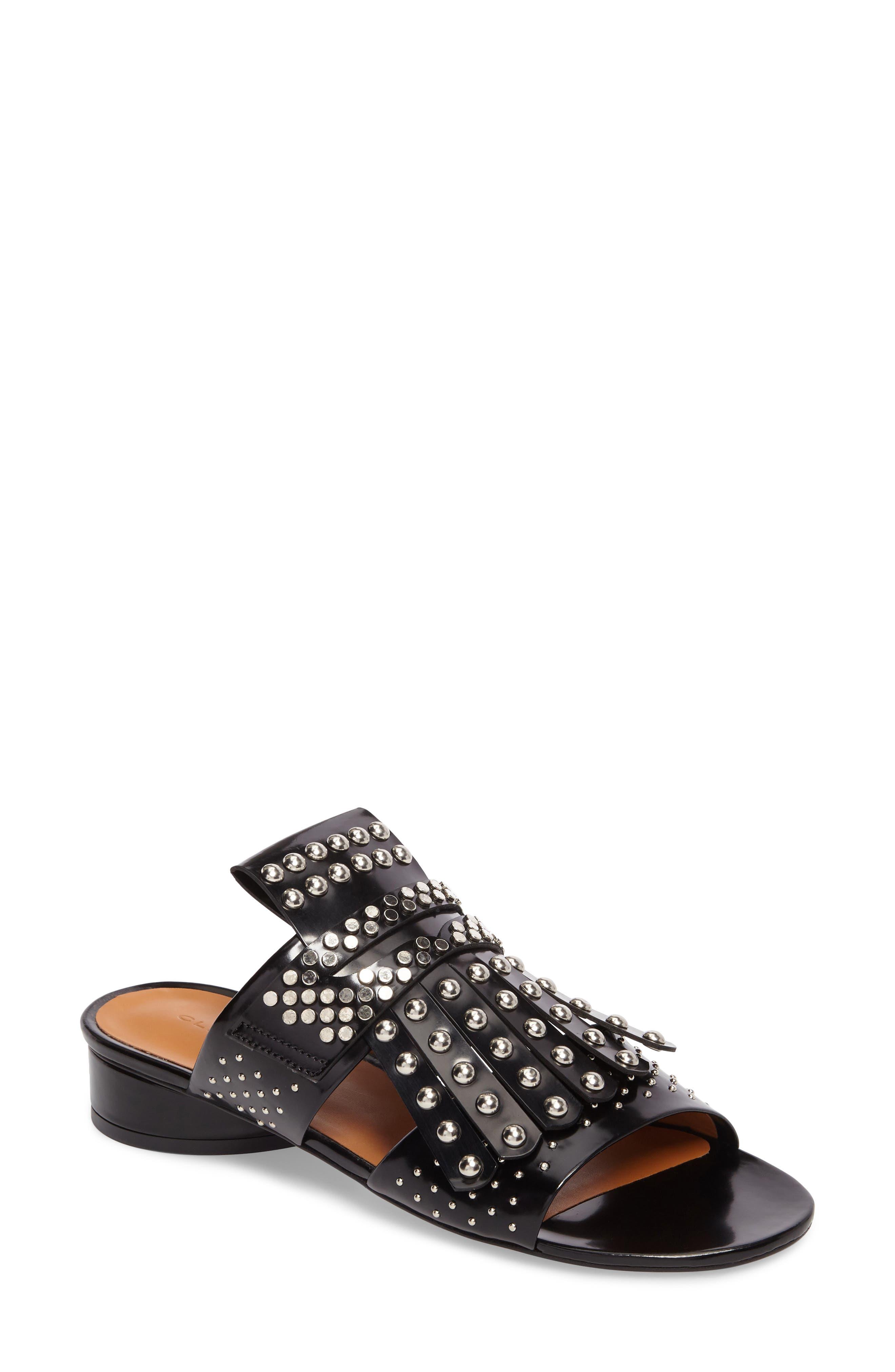 Figlouc Studded Sandal,                             Main thumbnail 1, color,                             Black