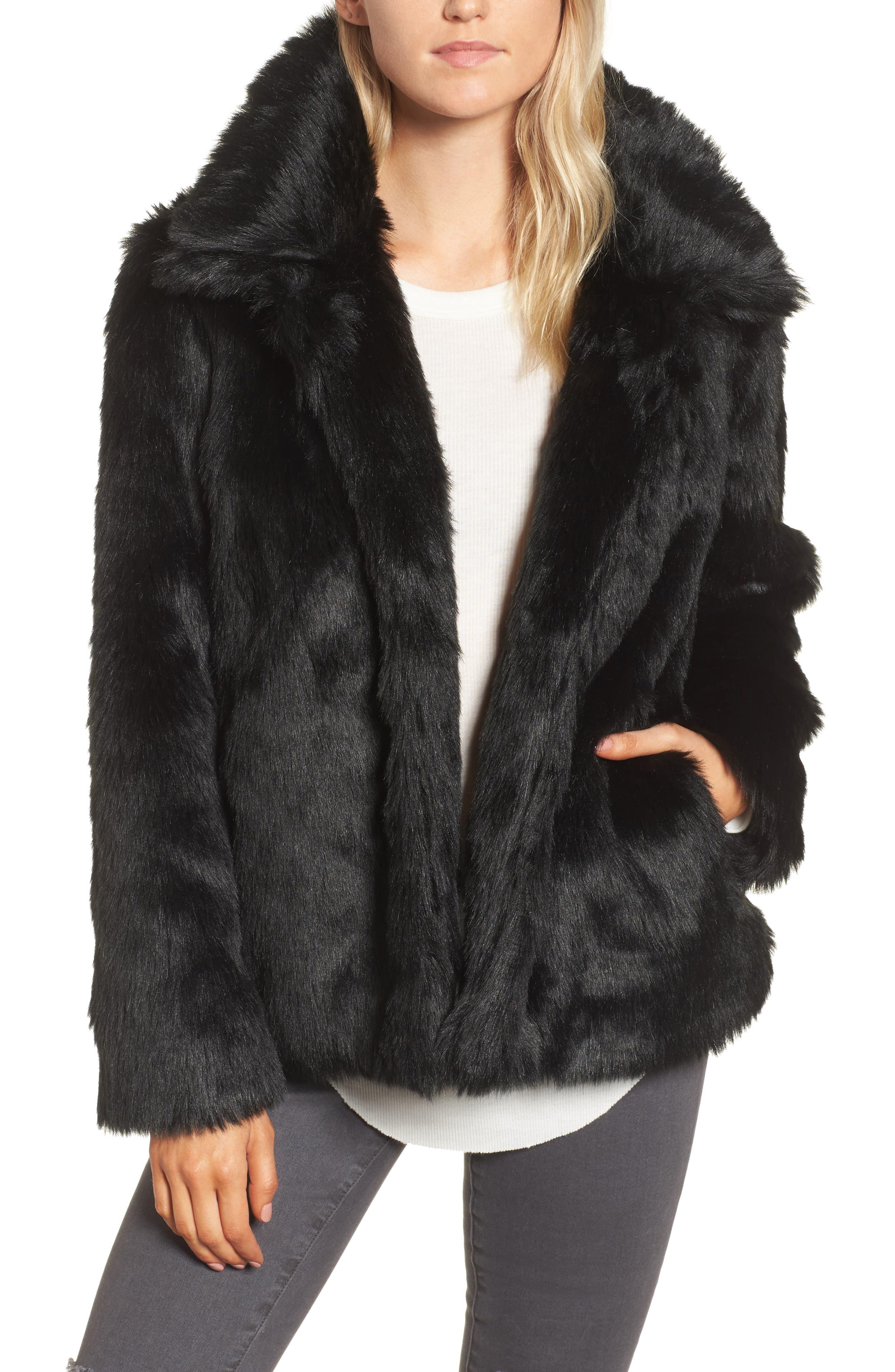 Hinge Faux Fur Jacket