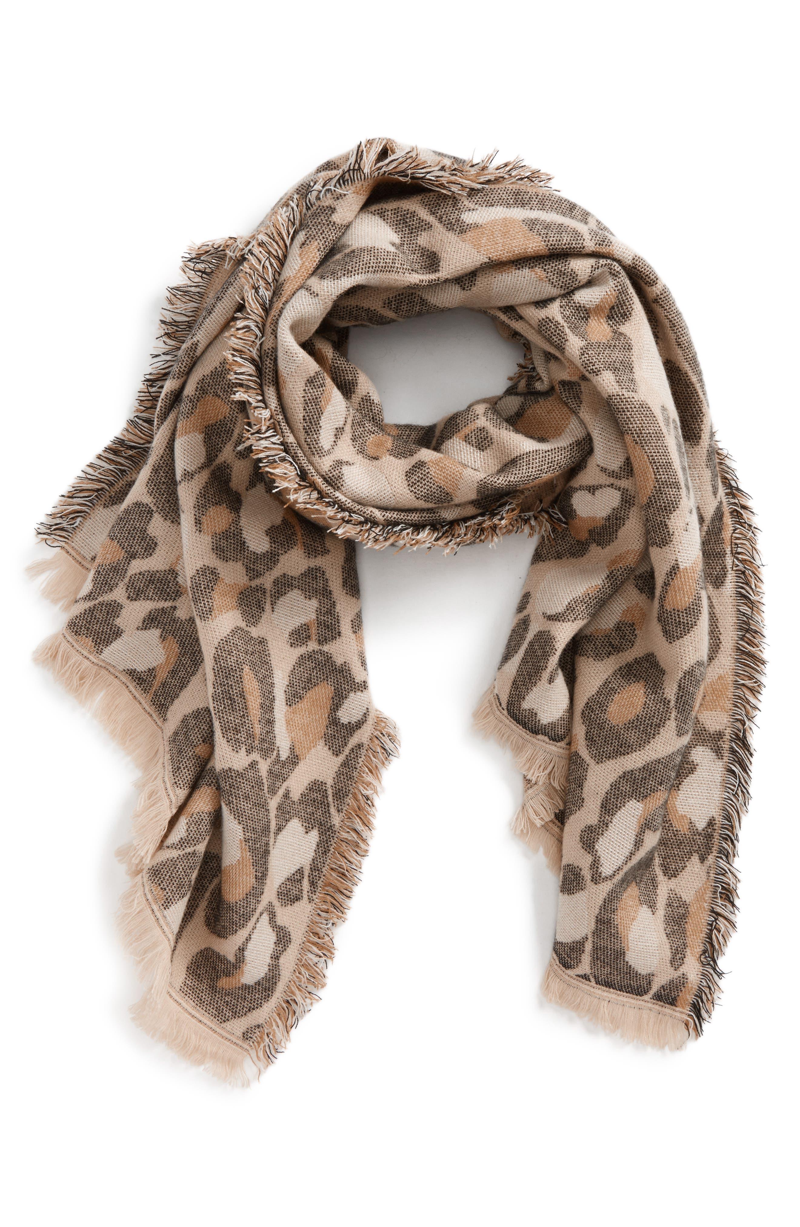BP. Leopard Print Scarf