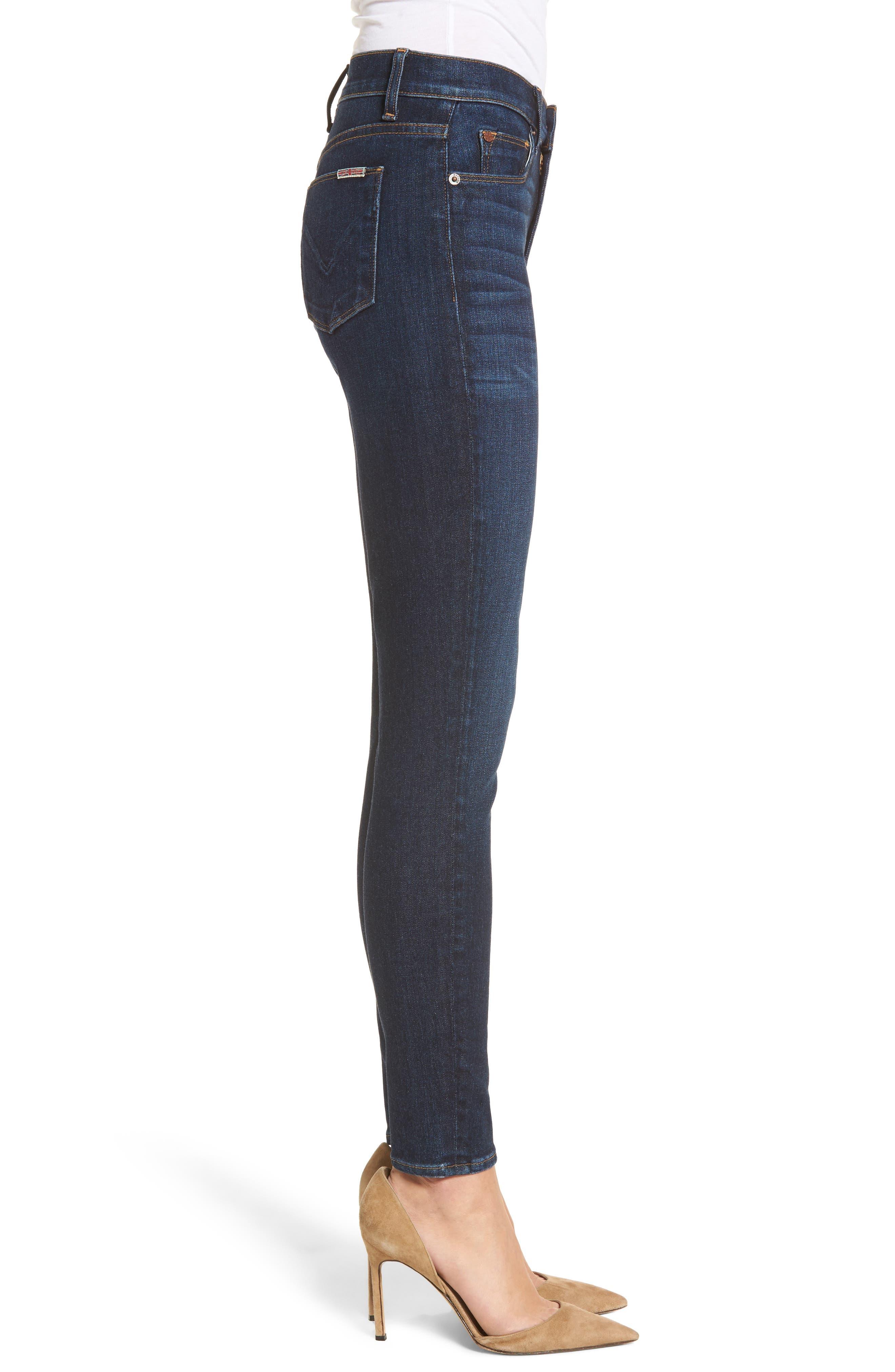 Barbara High Waist Ankle Super Skinny Jeans,                             Alternate thumbnail 3, color,                             Daze