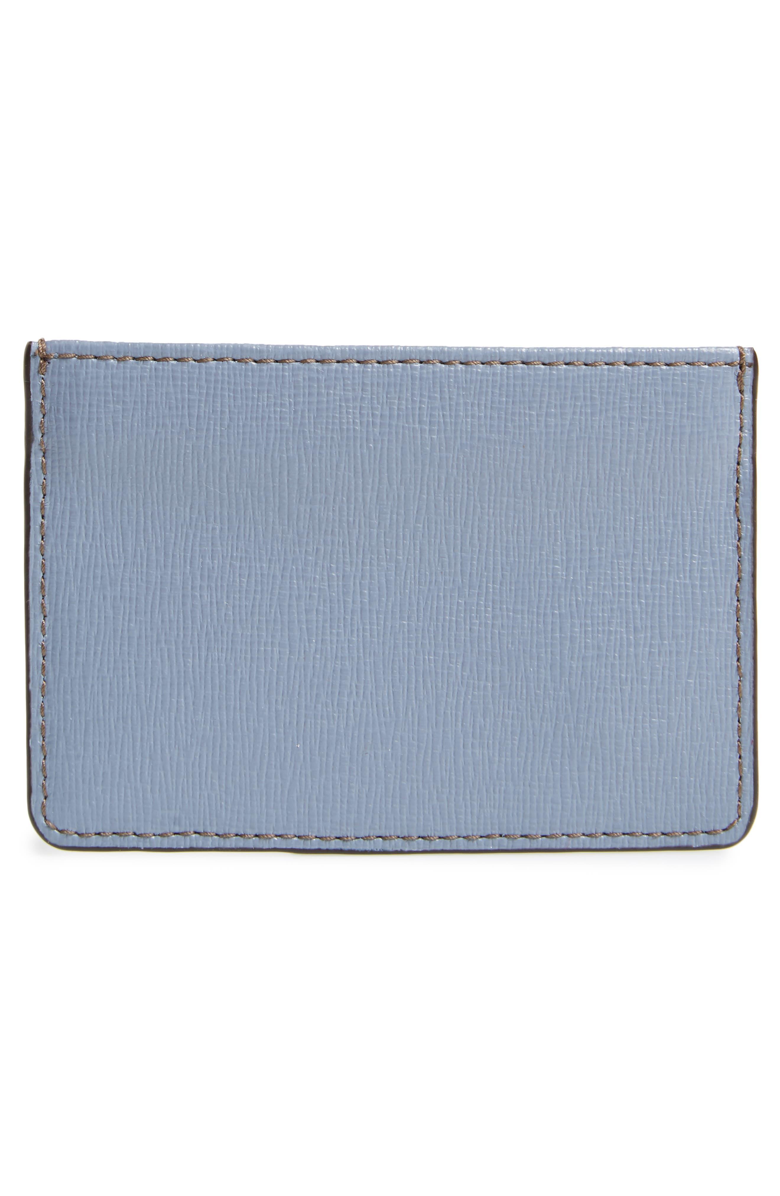 Gioia Saffiano Leather Card Case,                             Alternate thumbnail 2, color,                             Tempesta+Creta