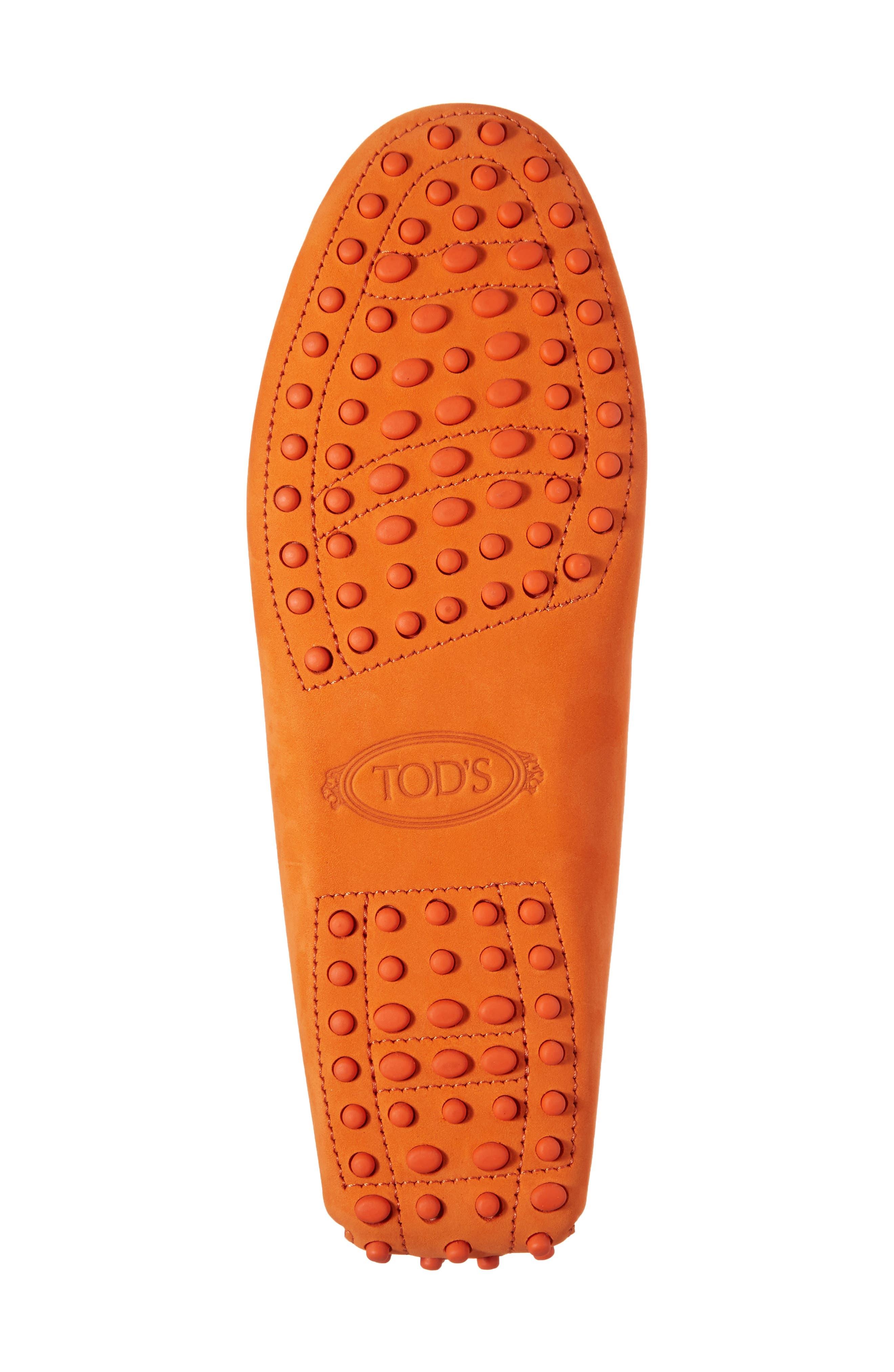 Gommini Covered Double T Loafer,                             Alternate thumbnail 6, color,                             Orange