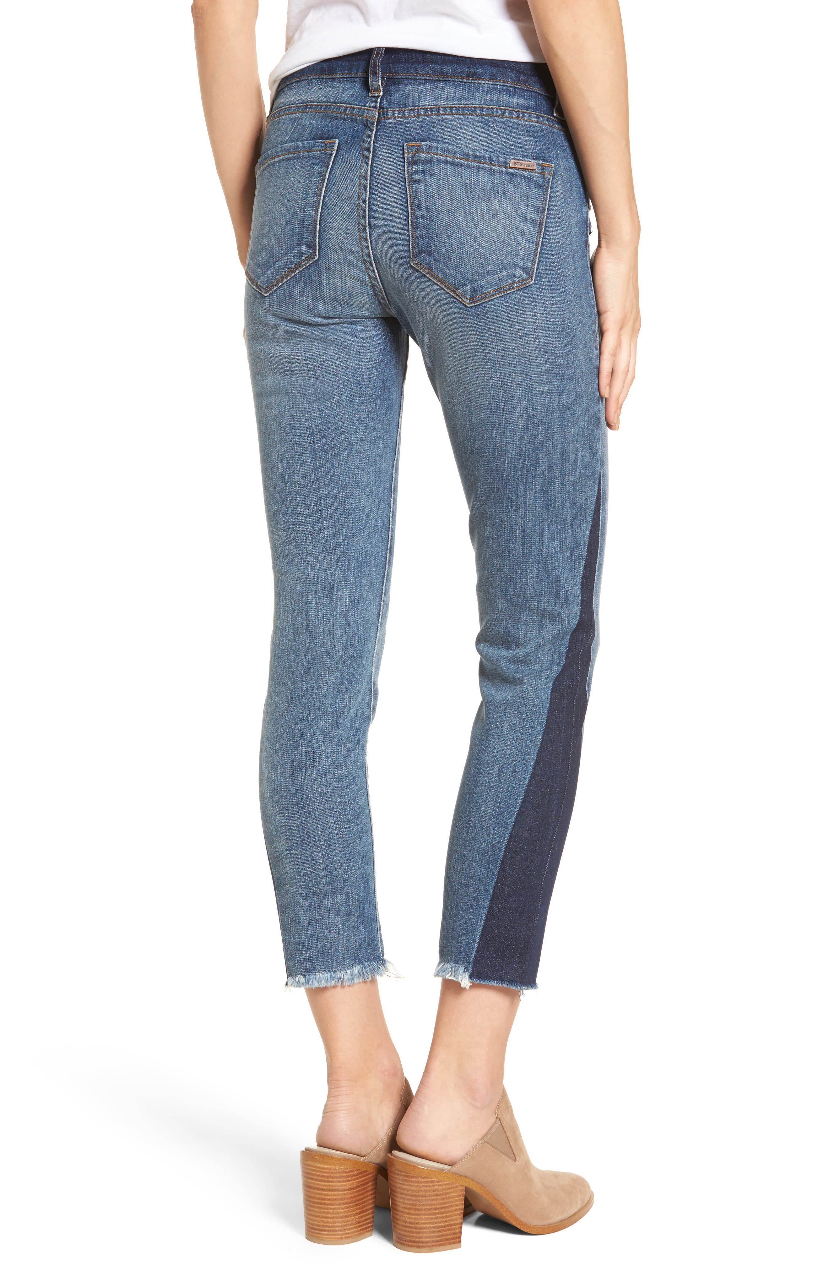 Alternate Image 2  - STS Blue Taylor Colorblock Straight Leg Jeans (Woodruff)