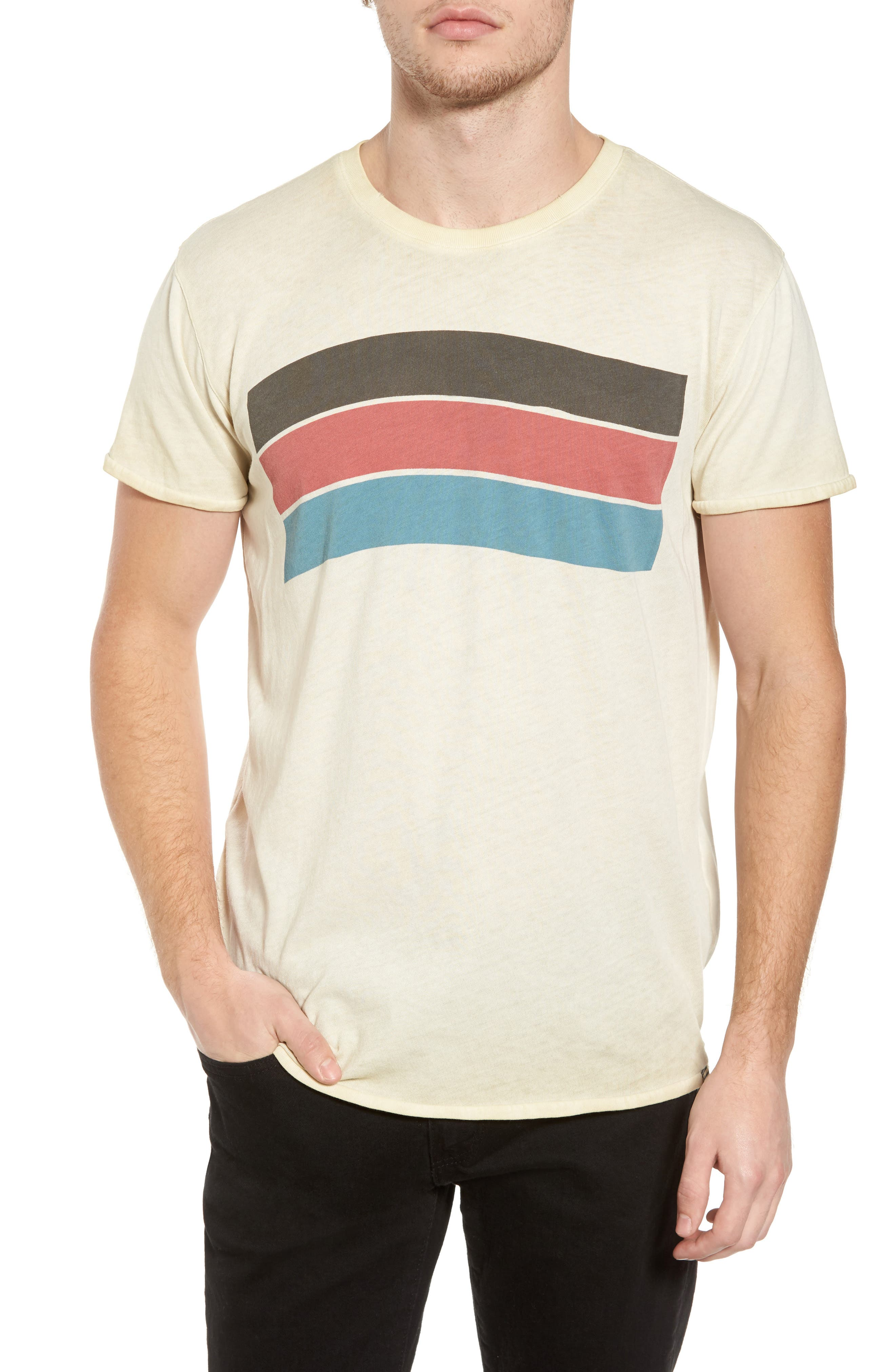 Washed Graphic T-Shirt,                         Main,                         color, Ecru