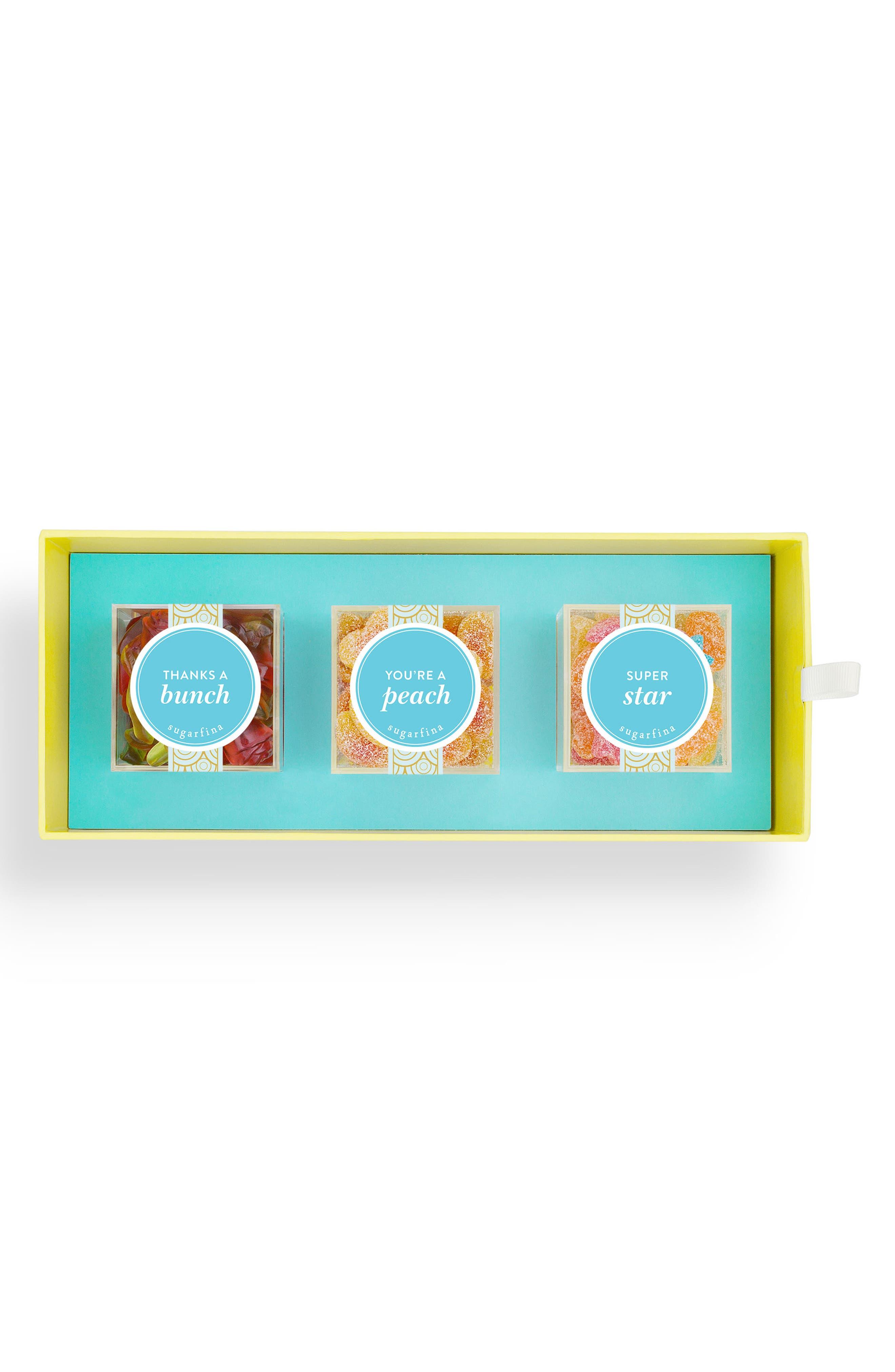 Thank You 3-Piece Candy Bento Box,                         Main,                         color, Yellow