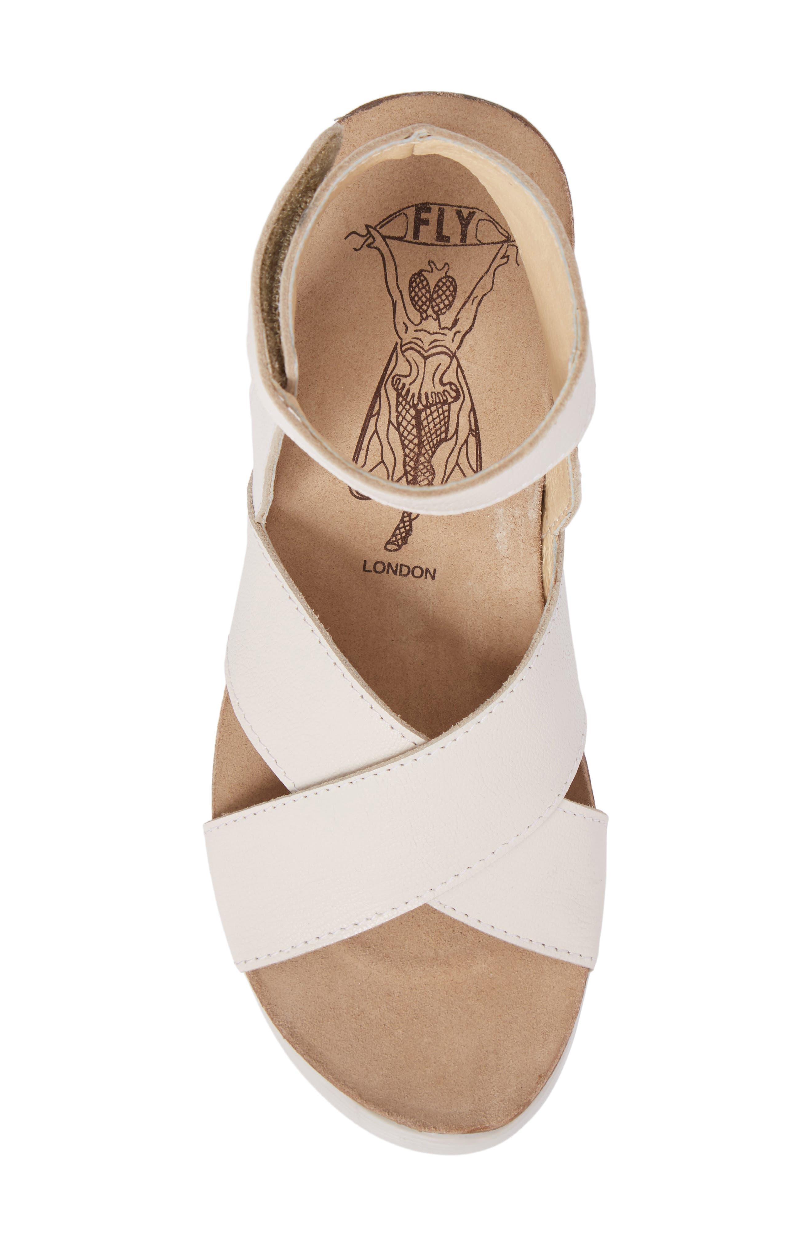 Alternate Image 5  - Fly London Weel Nubuck Leather Platform Sandal (Women)