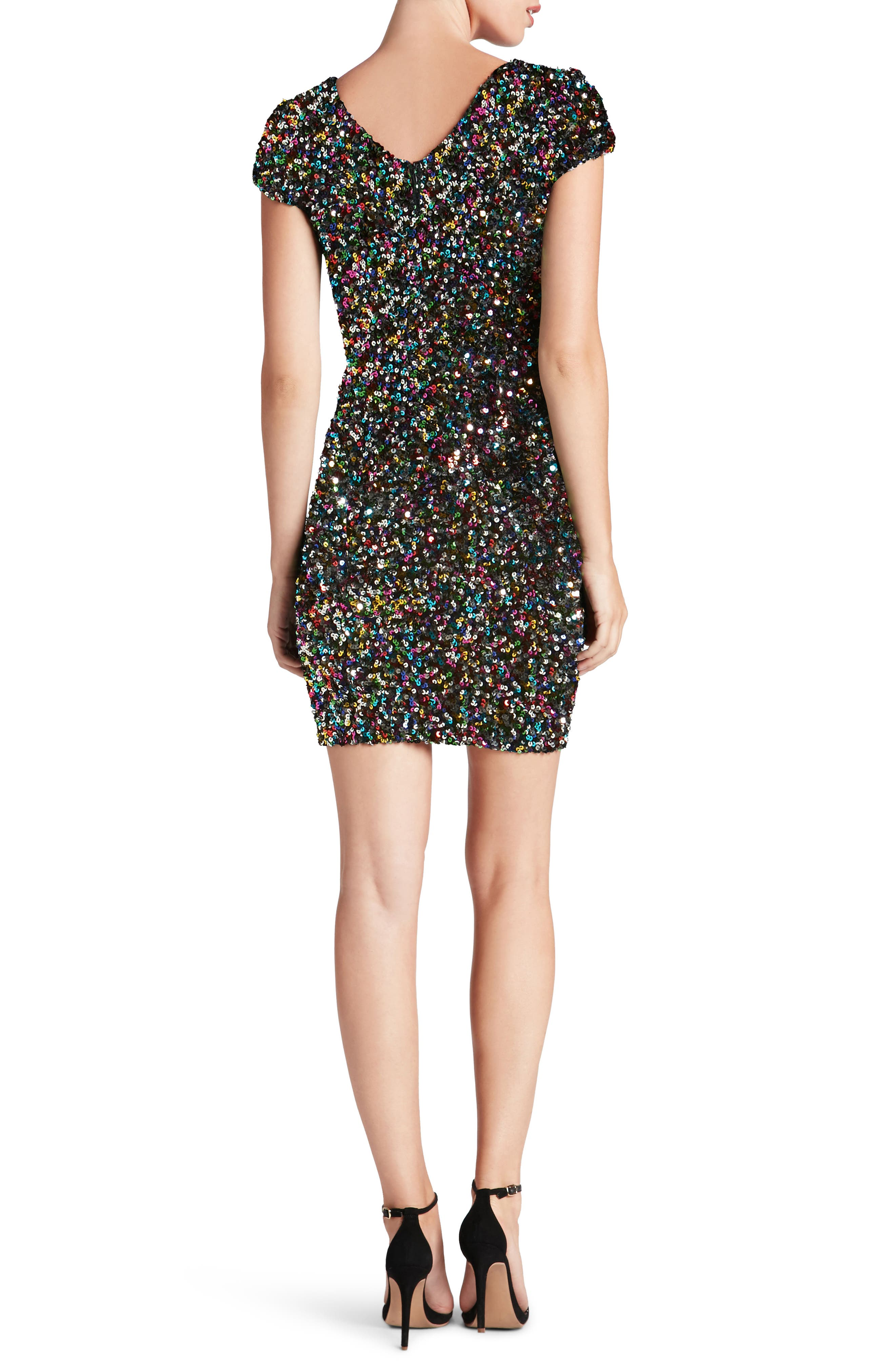 Alternate Image 2  - Dress the Population Zoe Sequin Minidress (Nordstrom Exclusive)