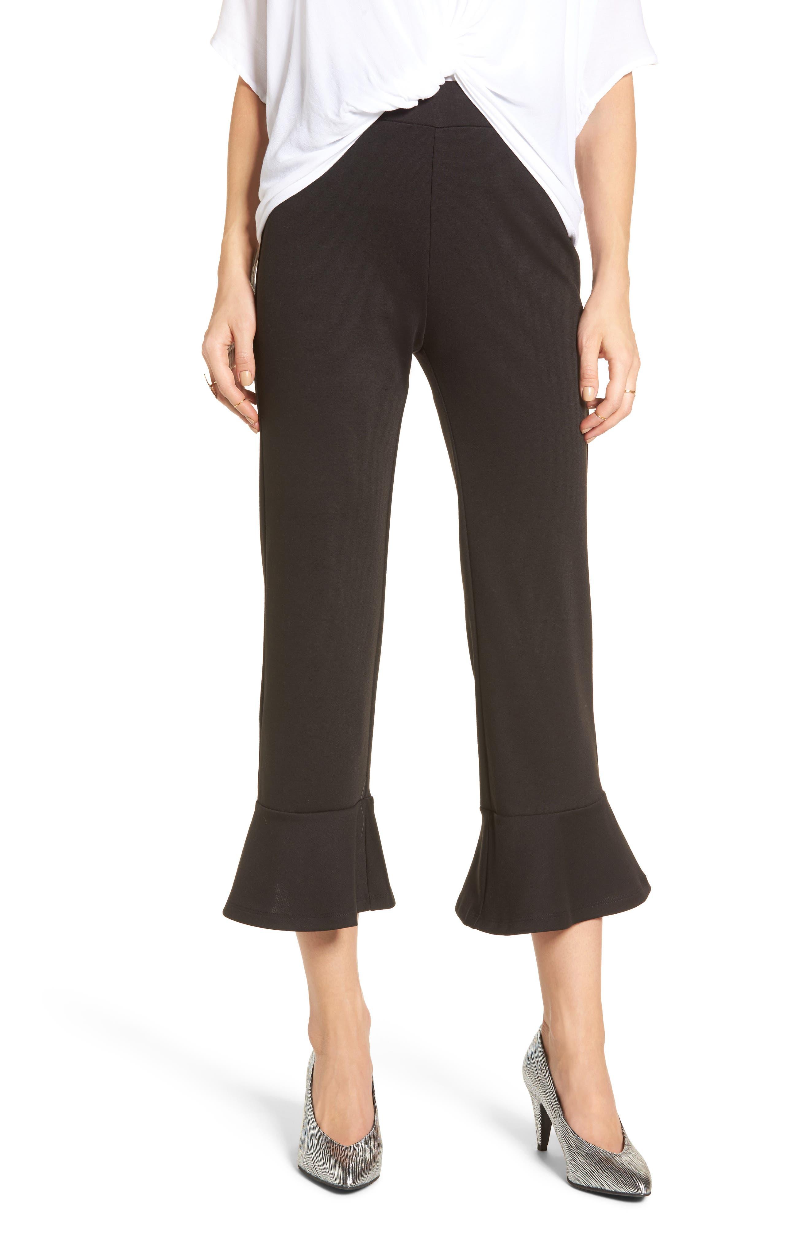 BP. Crop Ruffle Hem Pants