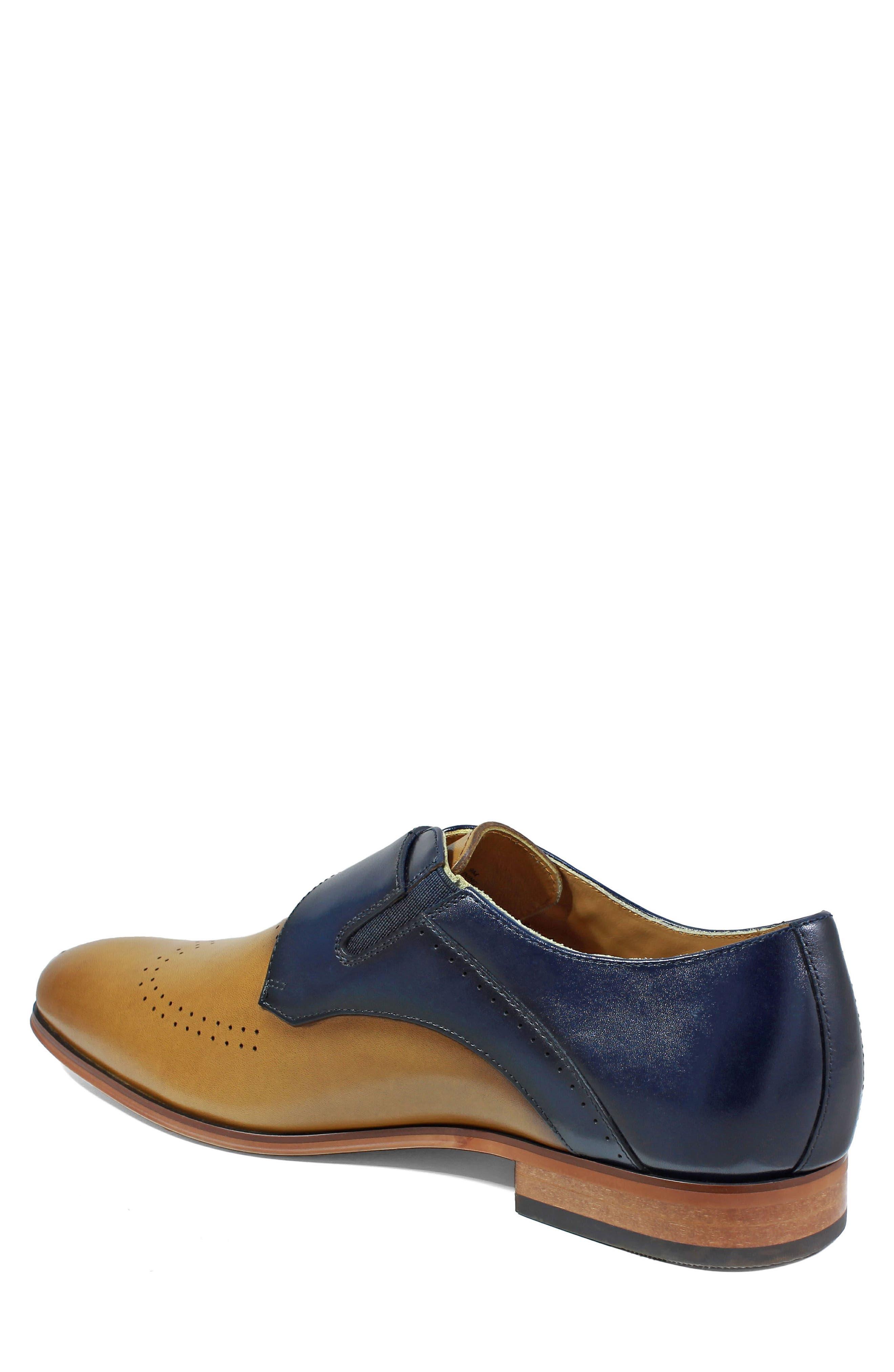 Alternate Image 2  - Stacy Adams Saxon Perforated Monk Shoe (Men)
