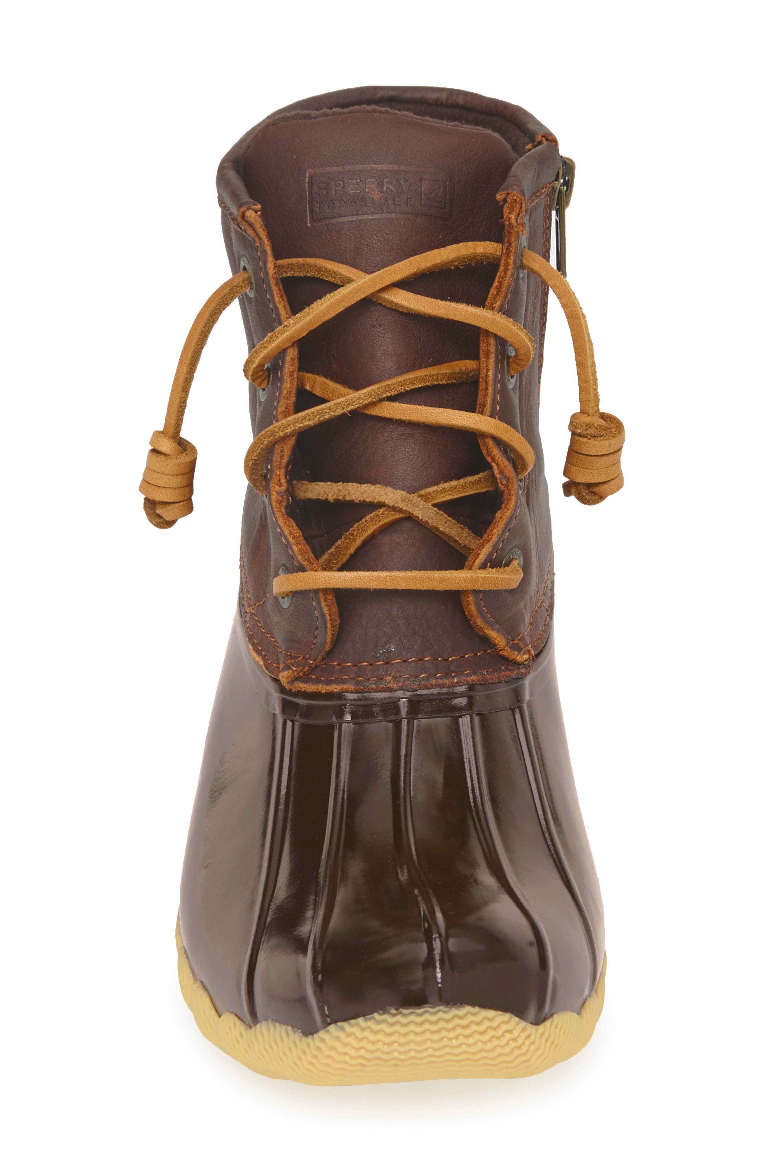 Saltwater Rain Boot,                             Alternate thumbnail 3, color,                             Tan/ Brown