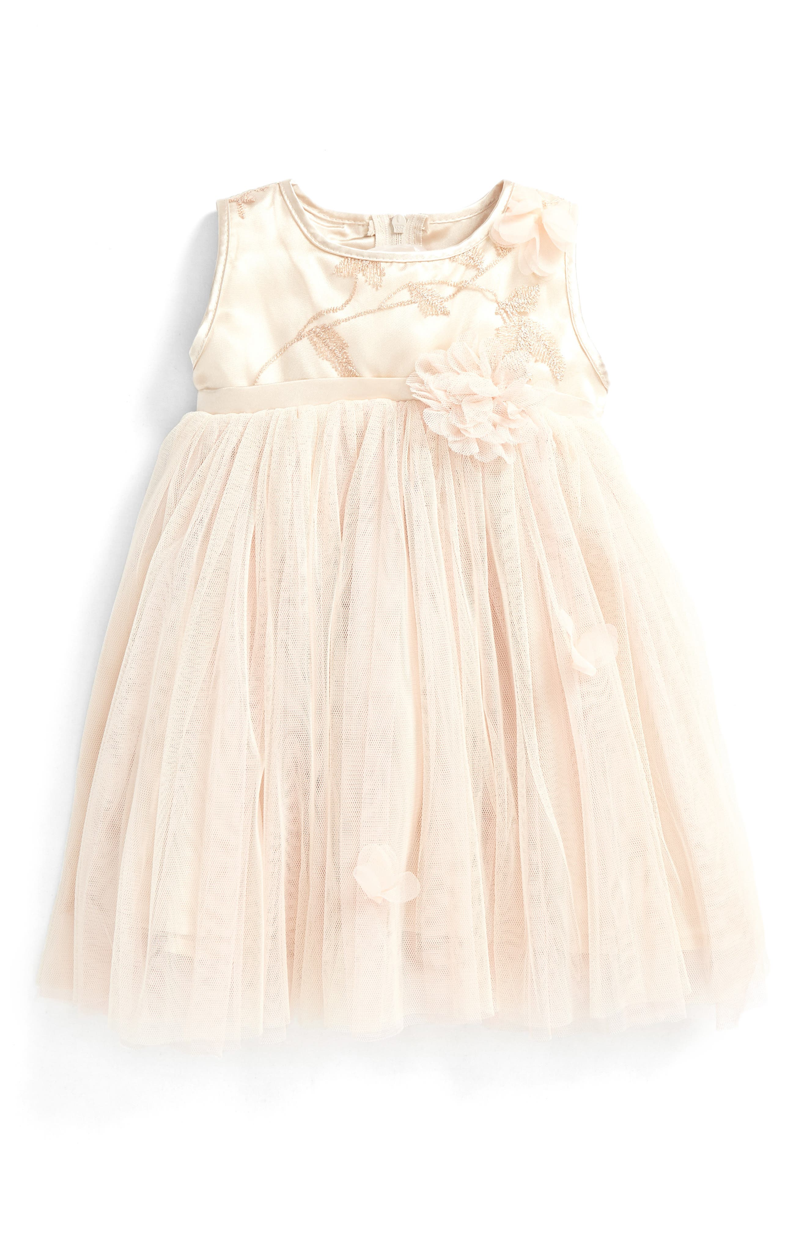 Tulle Party Dress,                         Main,                         color, Ivory