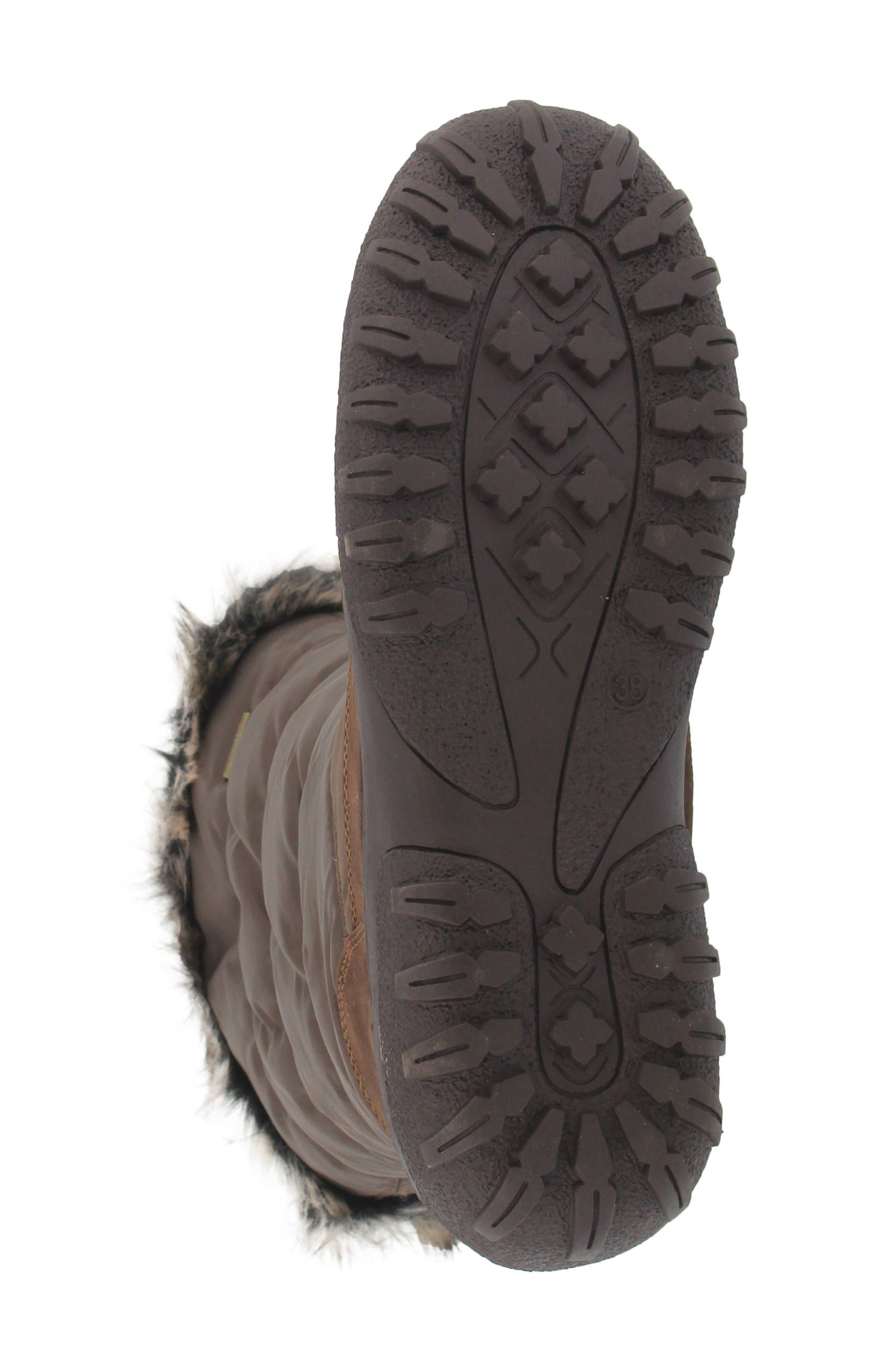 Alternate Image 5  - Spring Step Vanish Faux Fur Trim Waterproof Boot (Women)