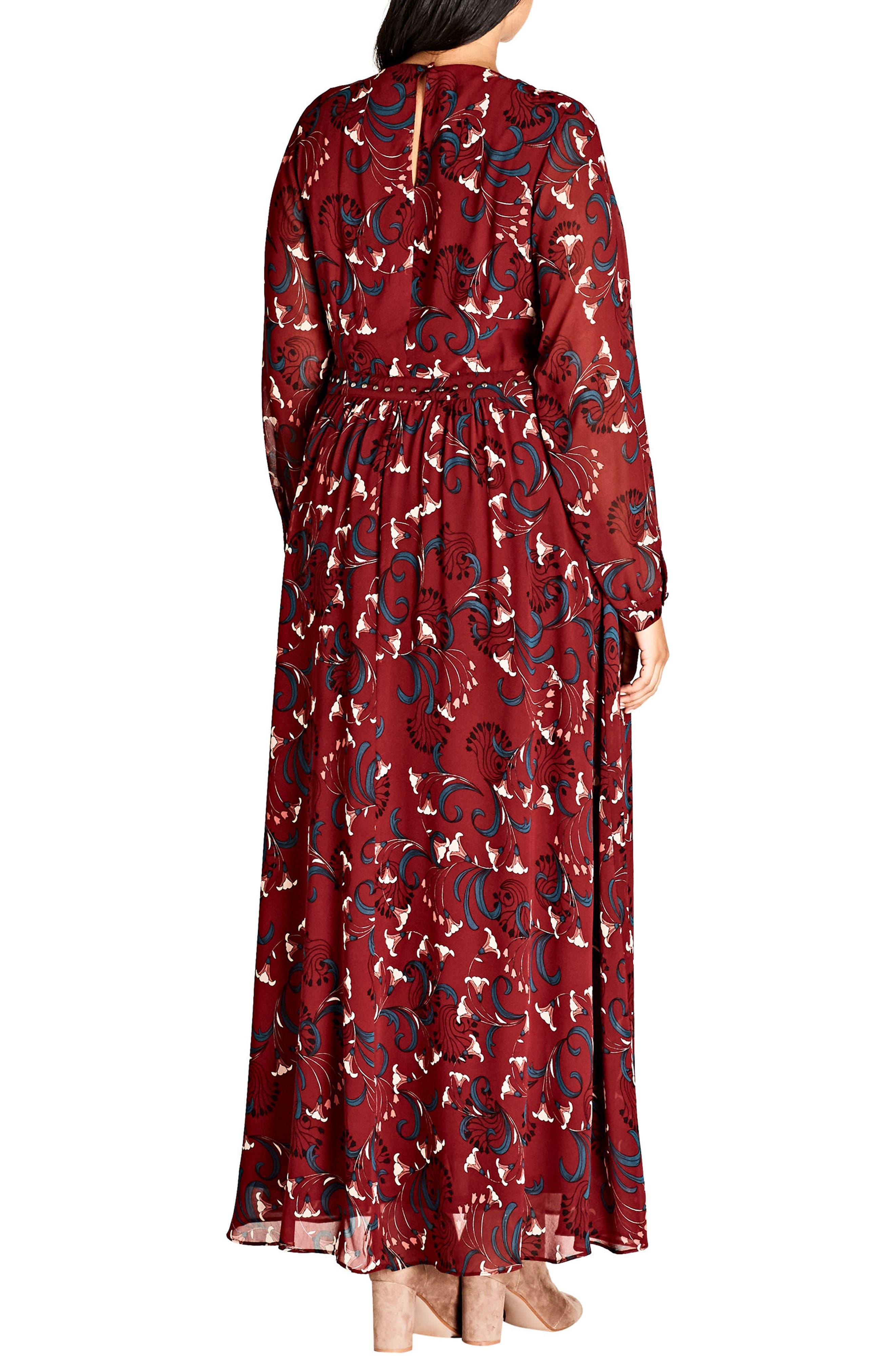 Alternate Image 2  - City Chic Folk Love Maxi Dress (Plus Size)