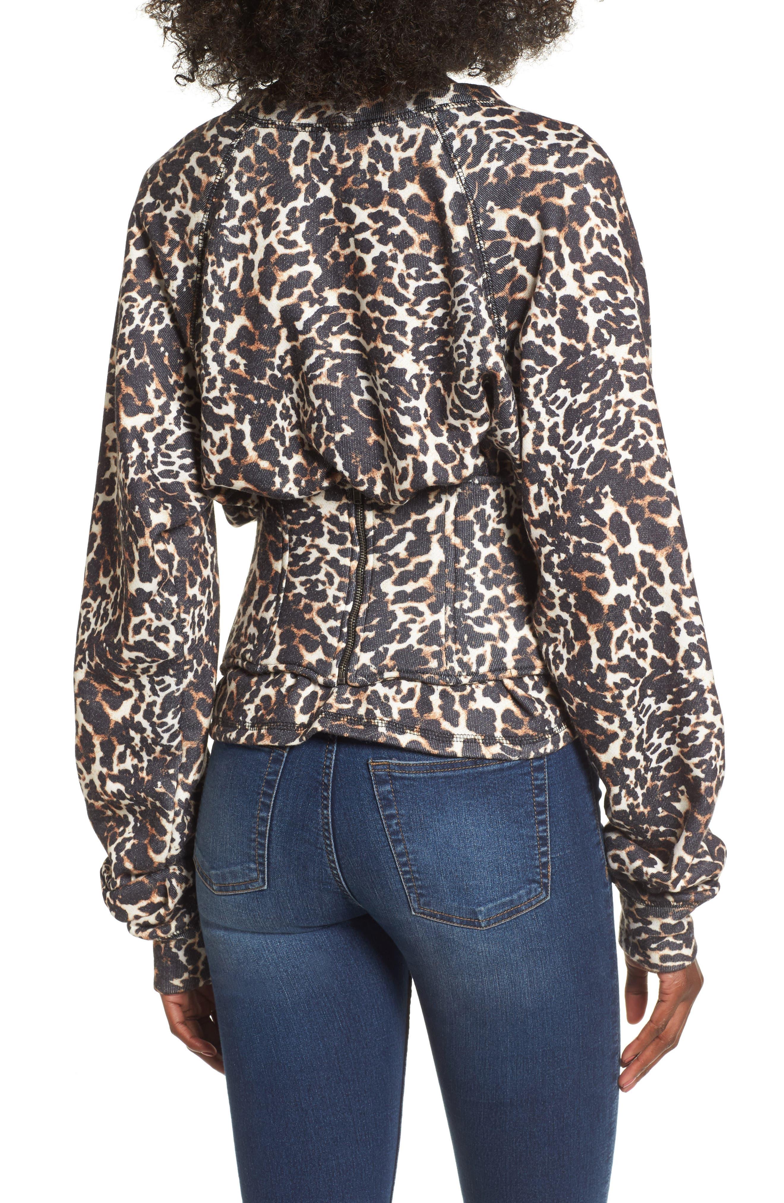 Mason Corset Sweatshirt,                             Alternate thumbnail 2, color,                             Leopard