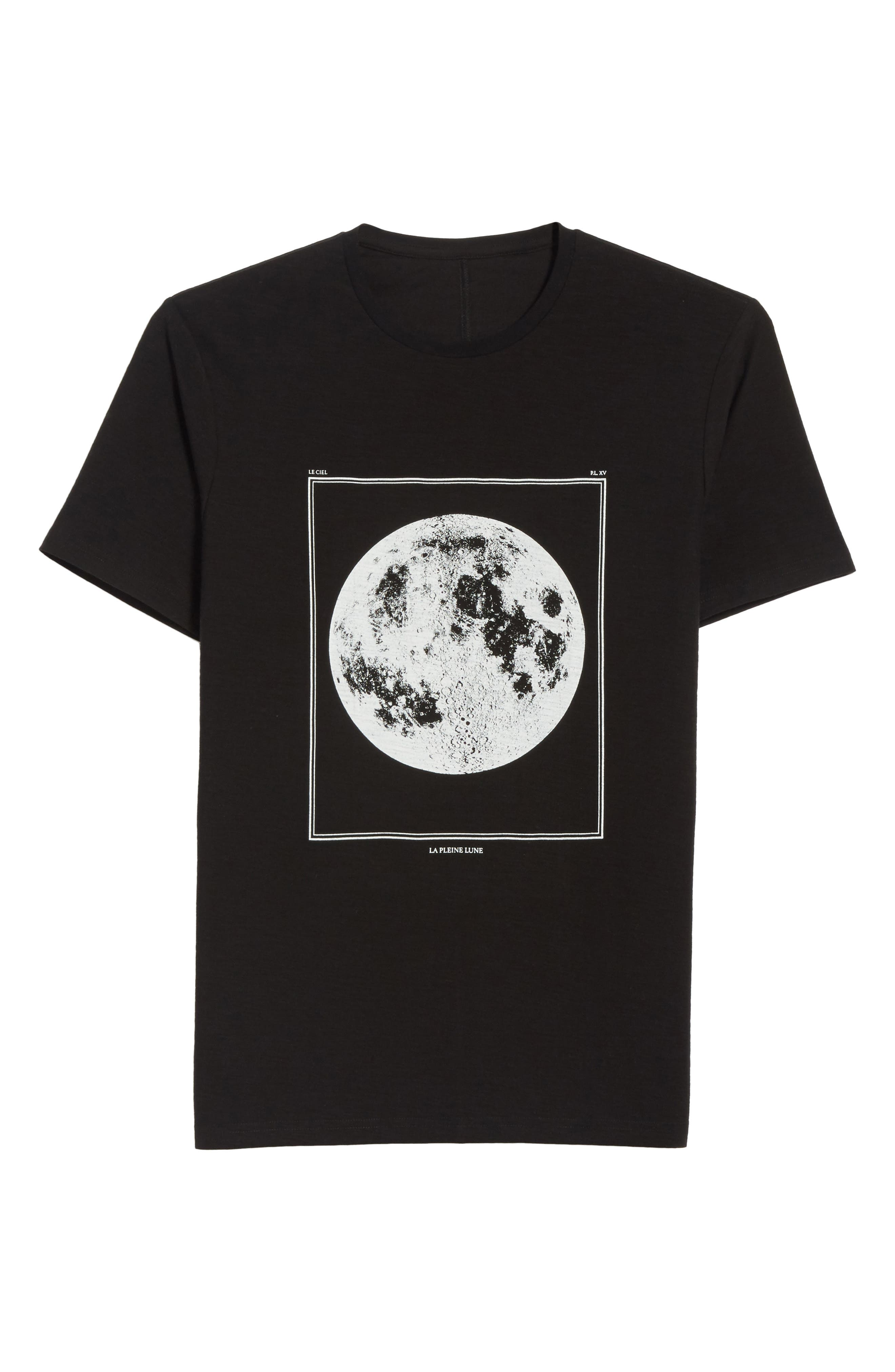 Full Moon Graphic T-Shirt,                             Alternate thumbnail 6, color,                             Black