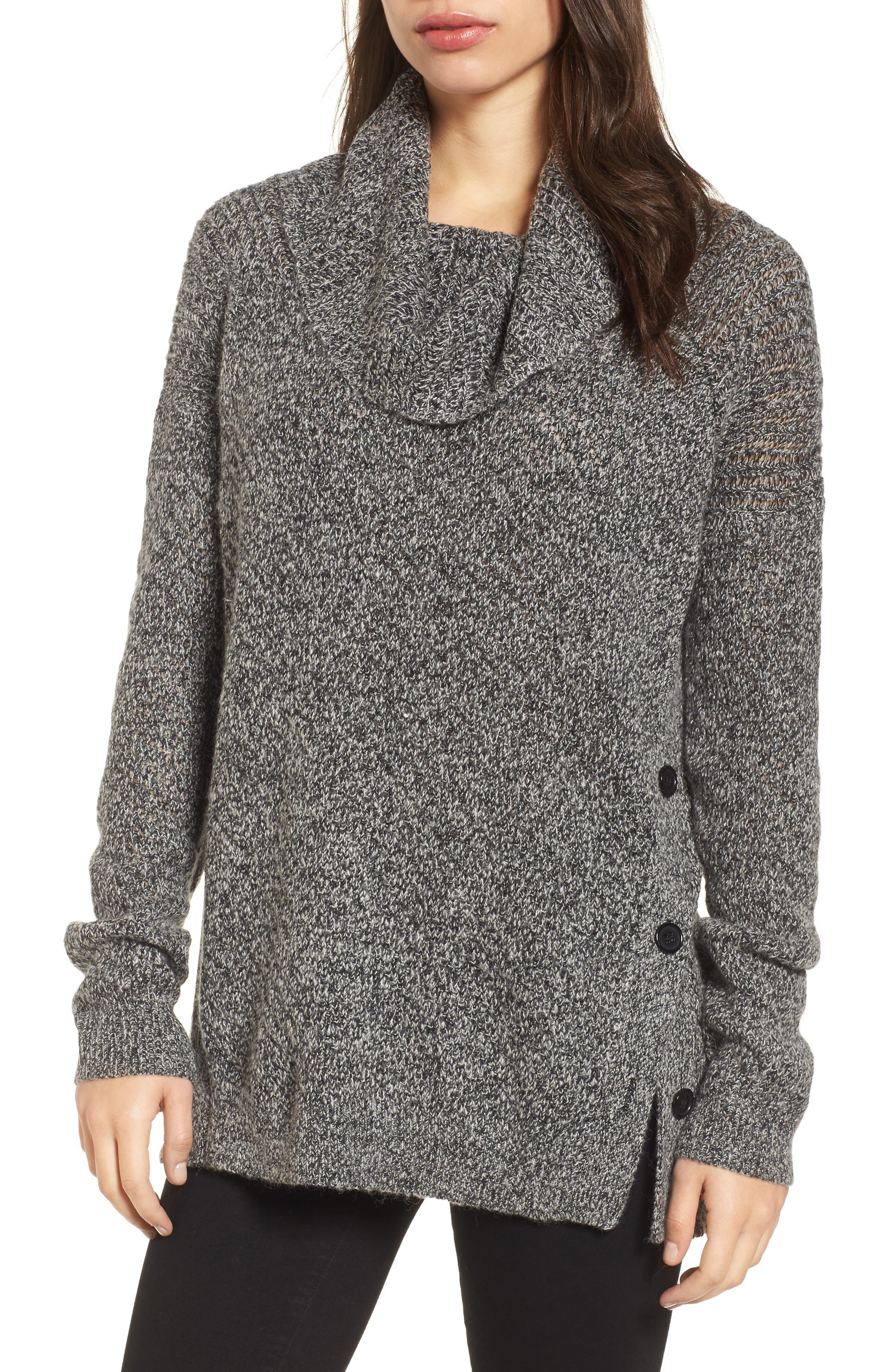 Lucky Brand Alyssa Side Button Sweater