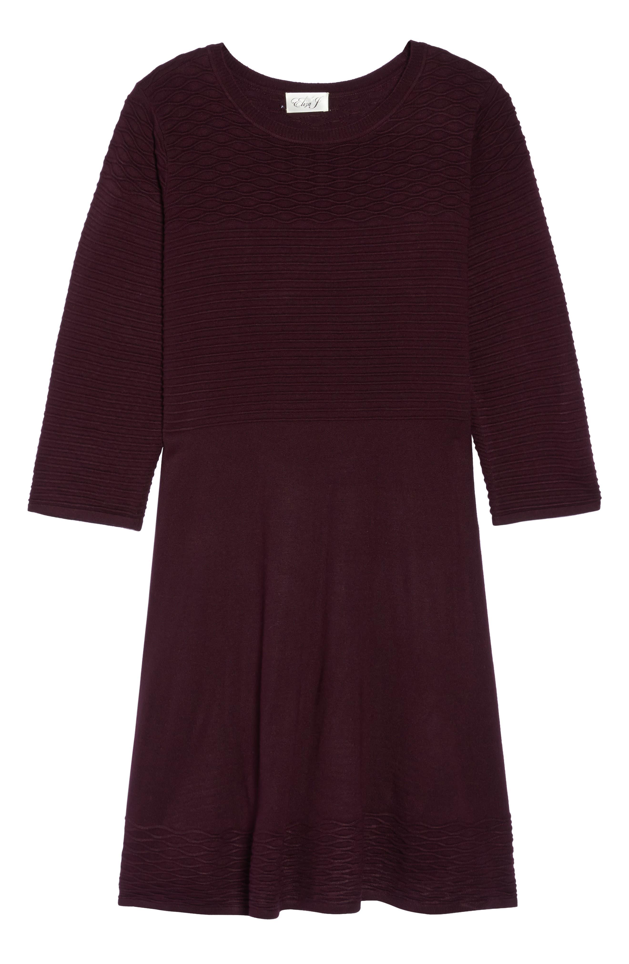 Alternate Image 6  - Eliza J Knit Fit & Flare Dress (Plus Size)