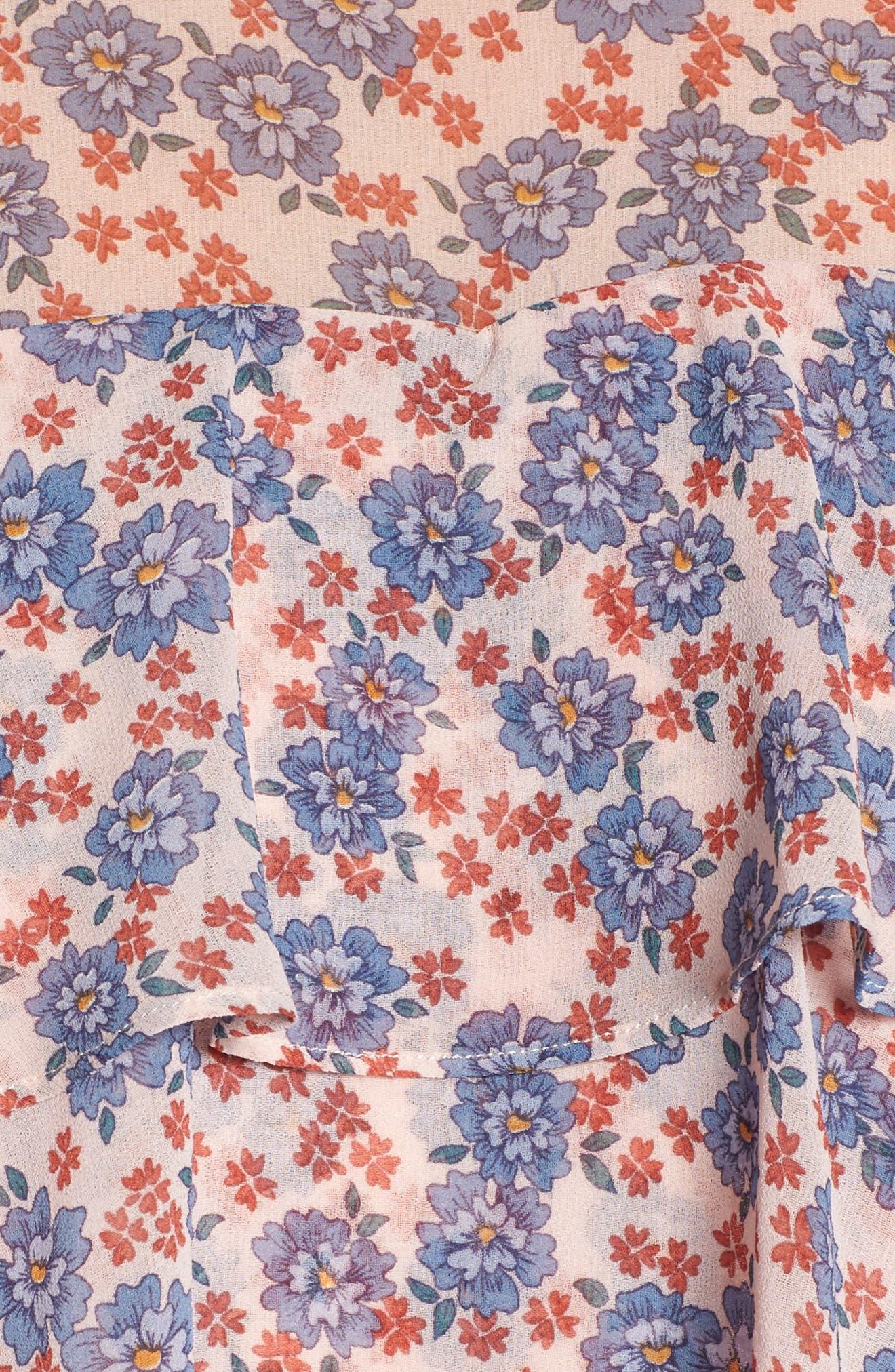 Darcy Ruffle Dress,                             Alternate thumbnail 5, color,                             Pink Multi