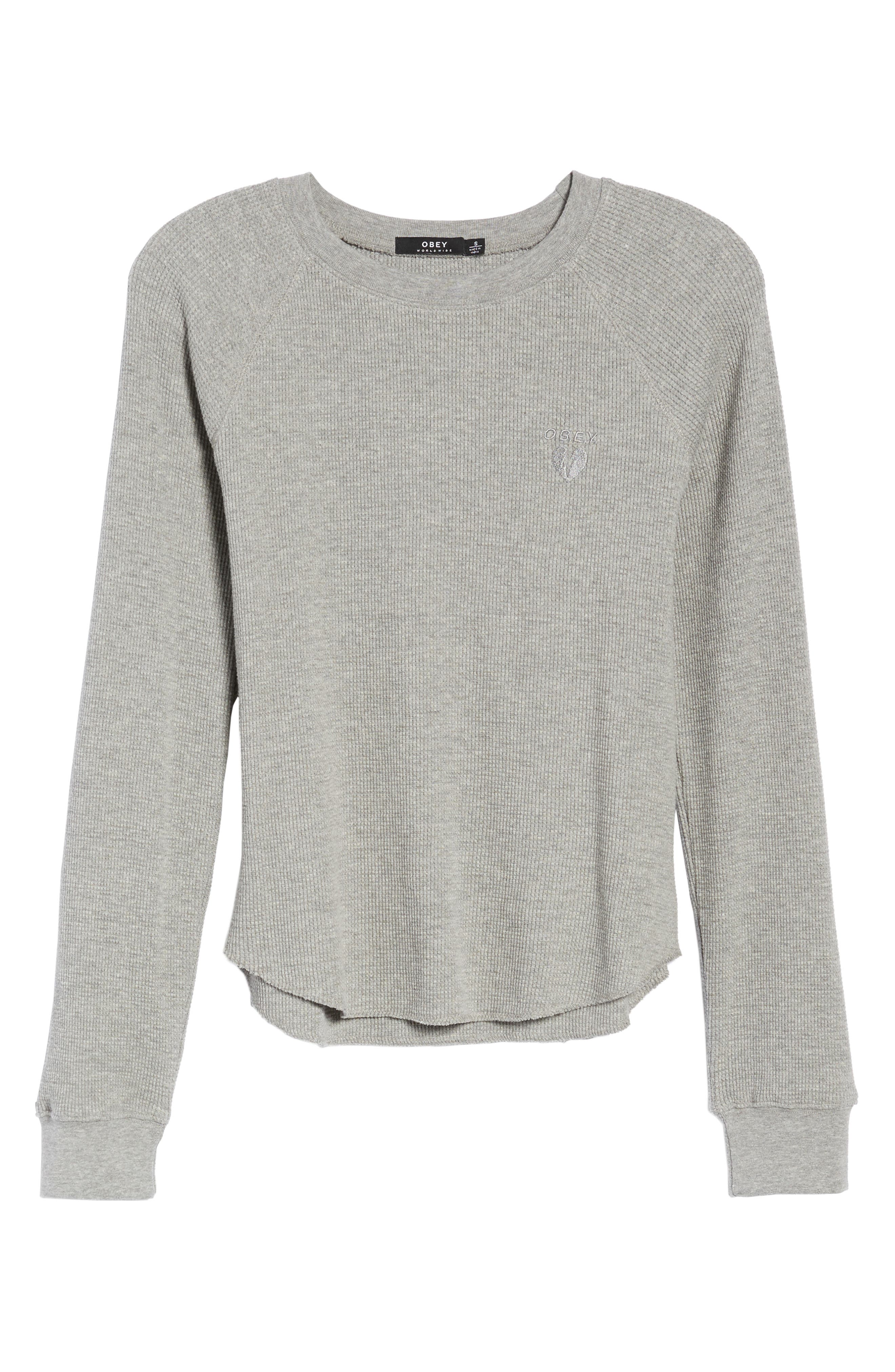 Dune Thermal Top,                             Alternate thumbnail 6, color,                             Heather Grey
