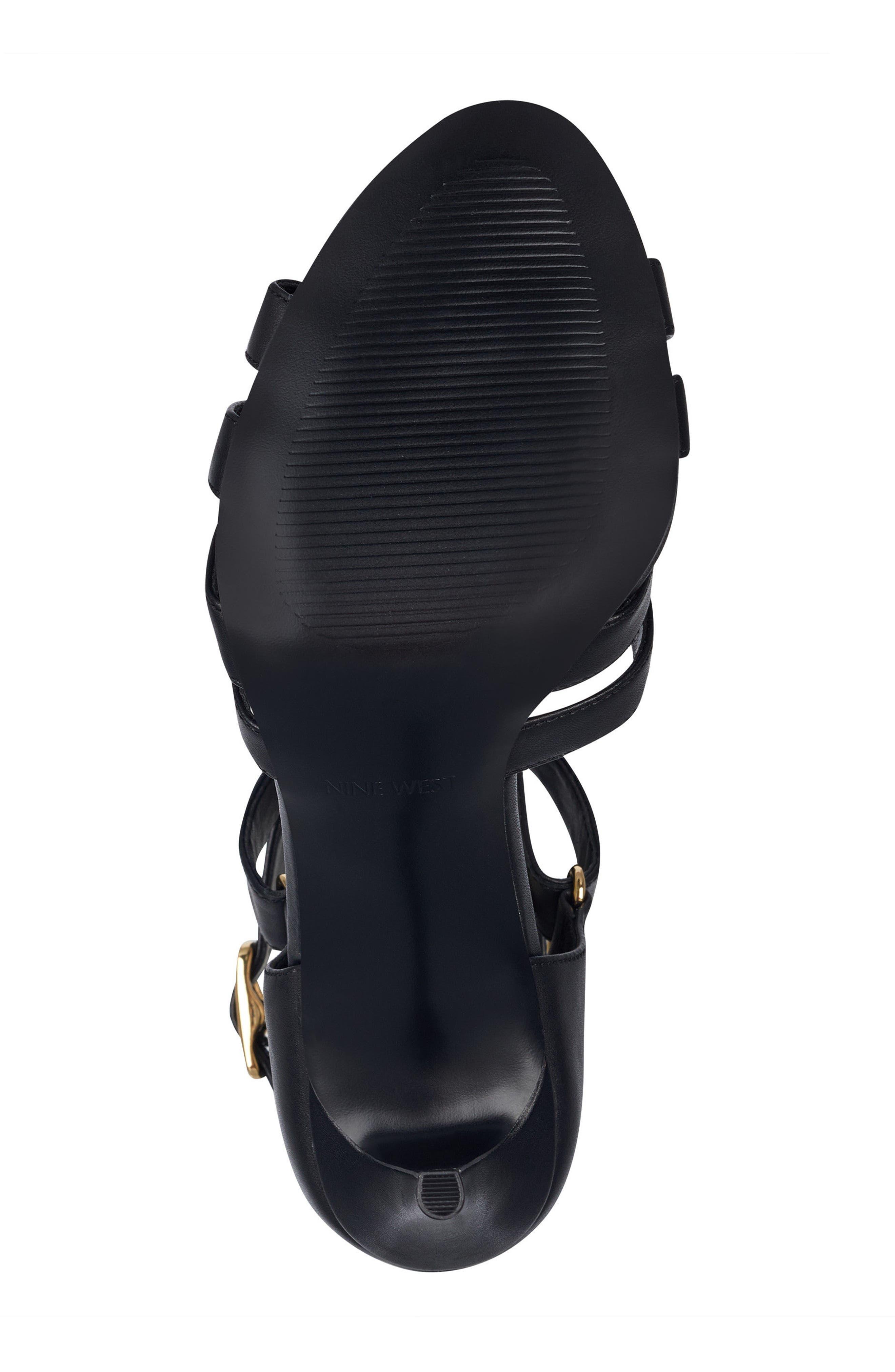 McGlynn Strappy Sandal,                             Alternate thumbnail 6, color,                             Black Leather