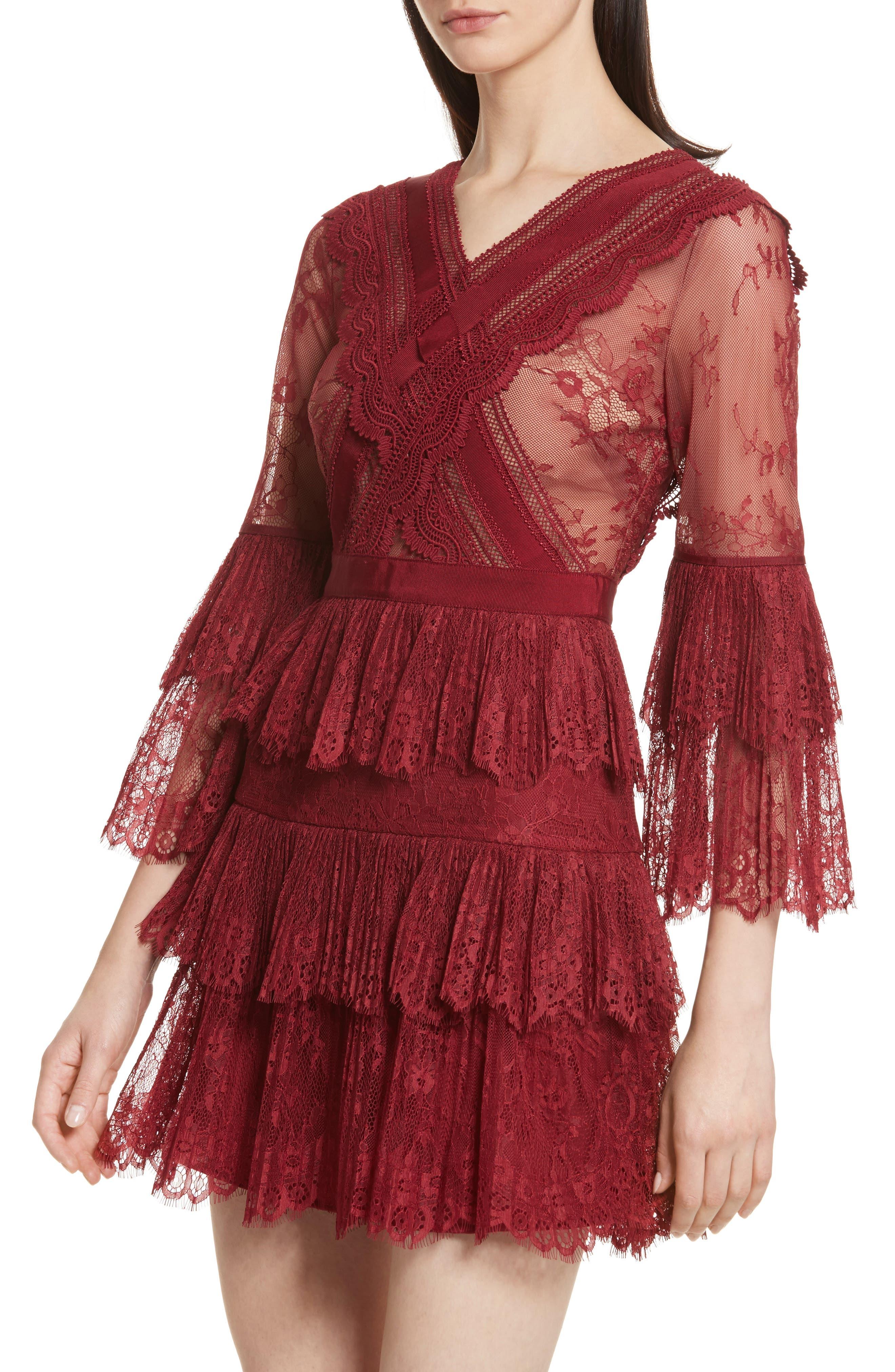Alternate Image 4  - Self-Portrait Pleated Lace Dress