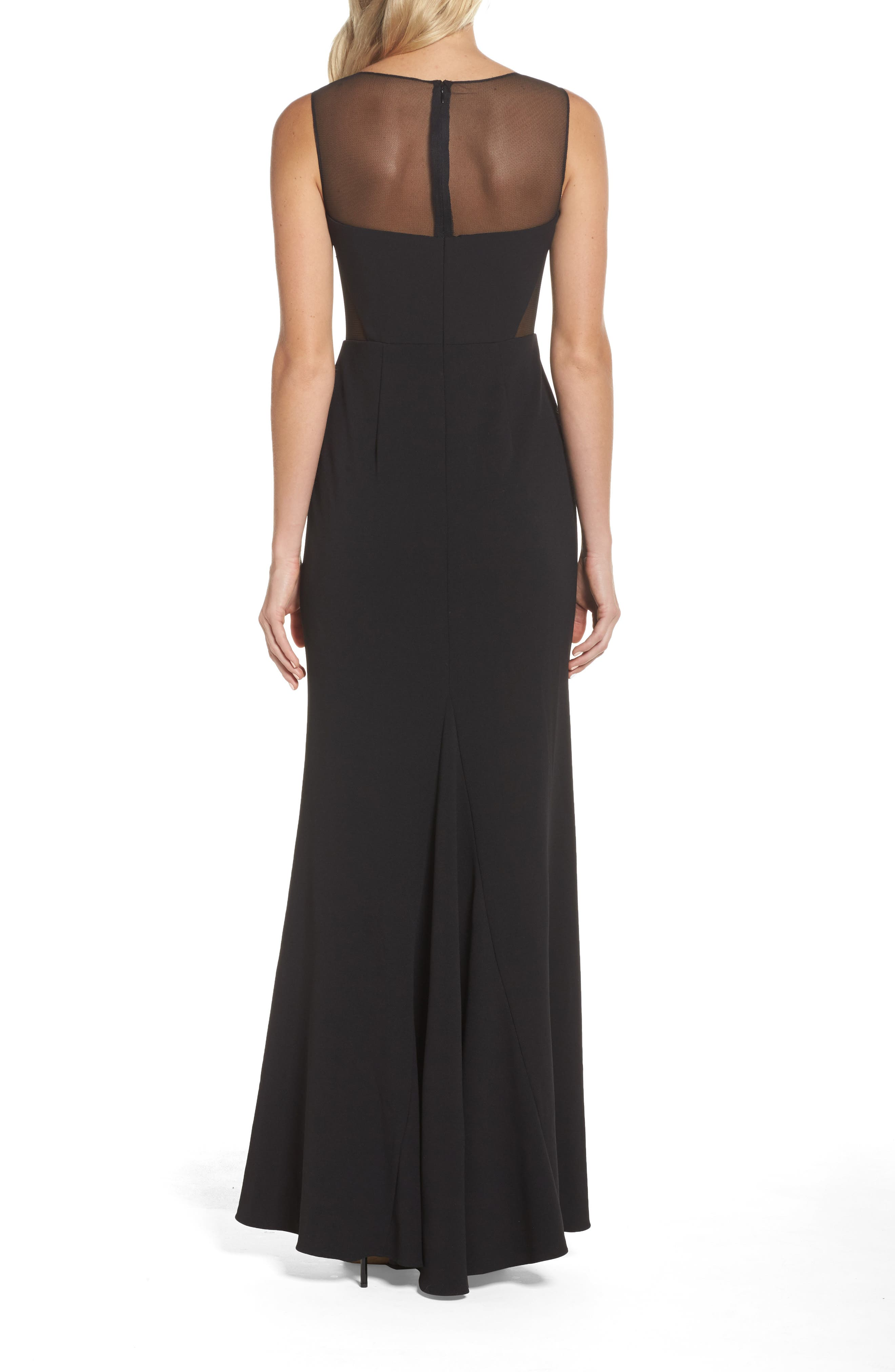 Alternate Image 2  - Adrianna Papell Embellished Knit Crepe Gown