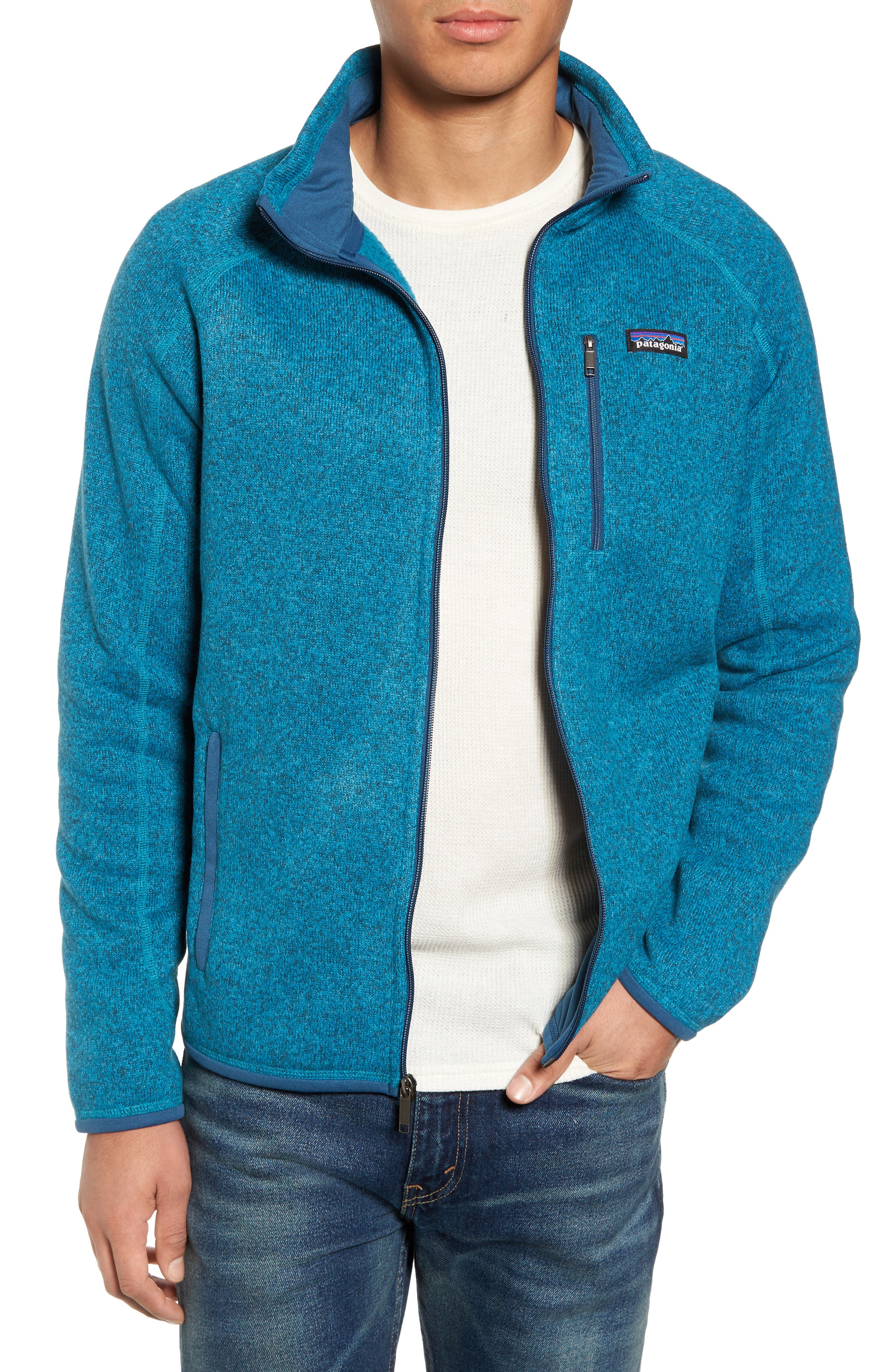 Better Sweater Zip Front Jacket,                         Main,                         color, Filter Blue