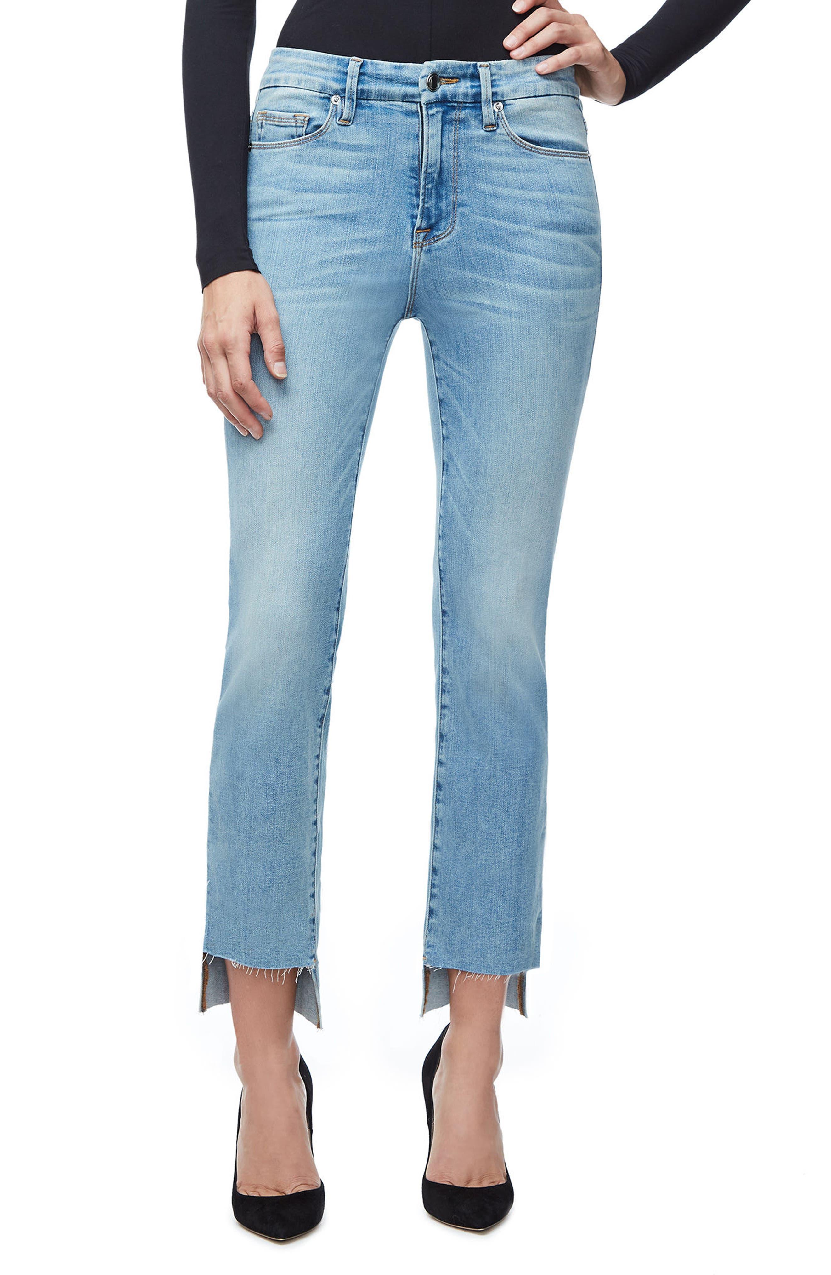 Good Legs High Waist Ankle Skinny Jeans,                         Main,                         color, Blue 103