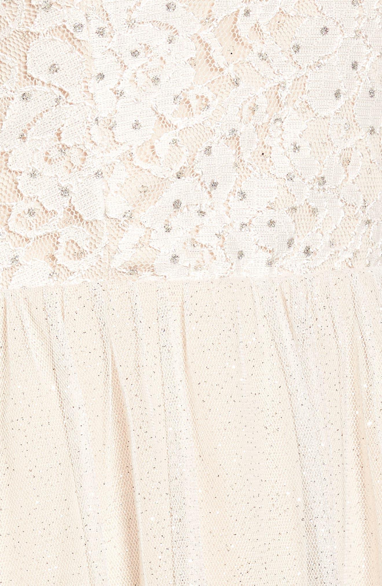 Glitter Tulle Dress,                             Alternate thumbnail 5, color,                             Blush