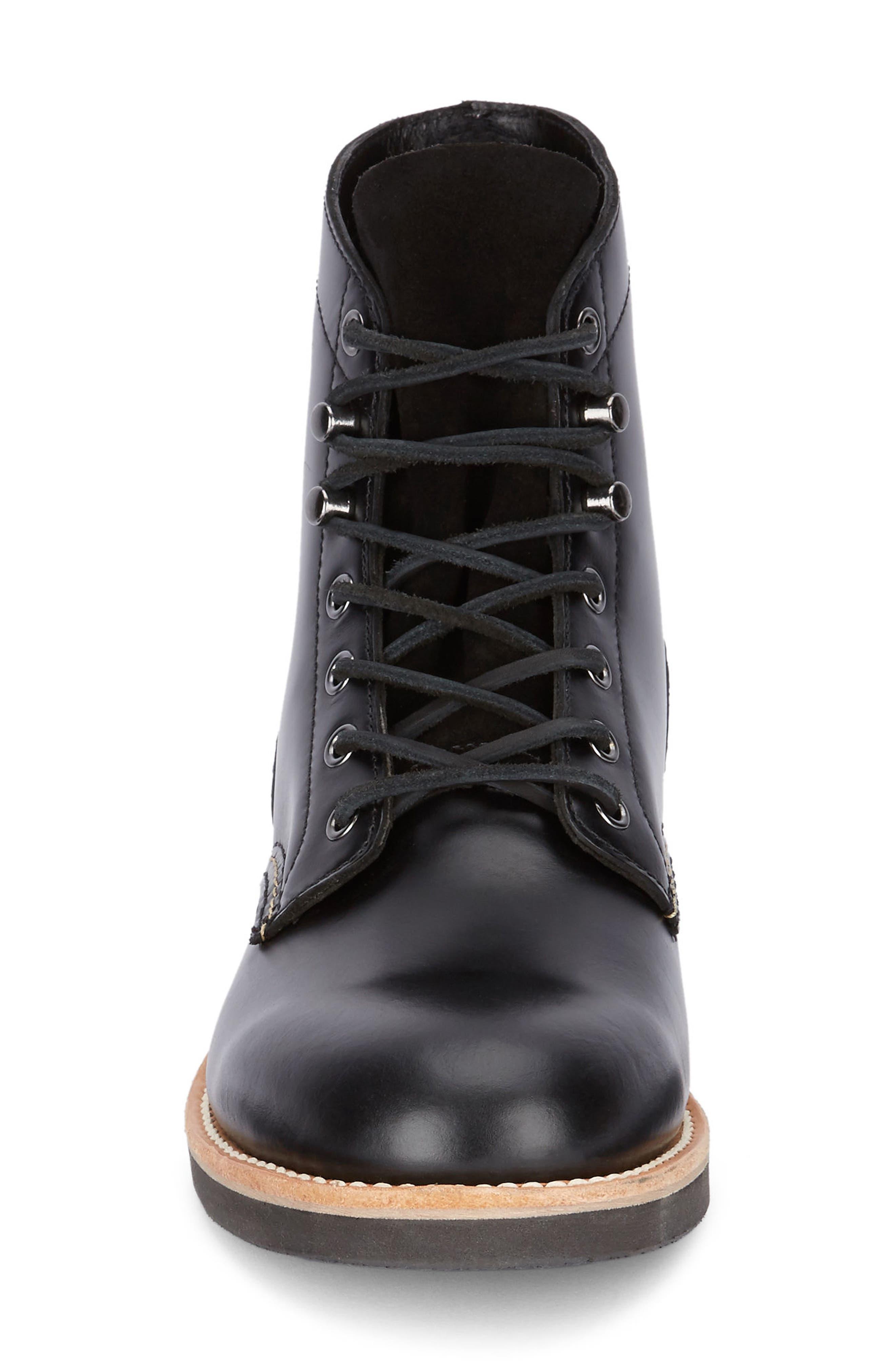 Reid Plain Toe Boot,                             Alternate thumbnail 4, color,                             Black