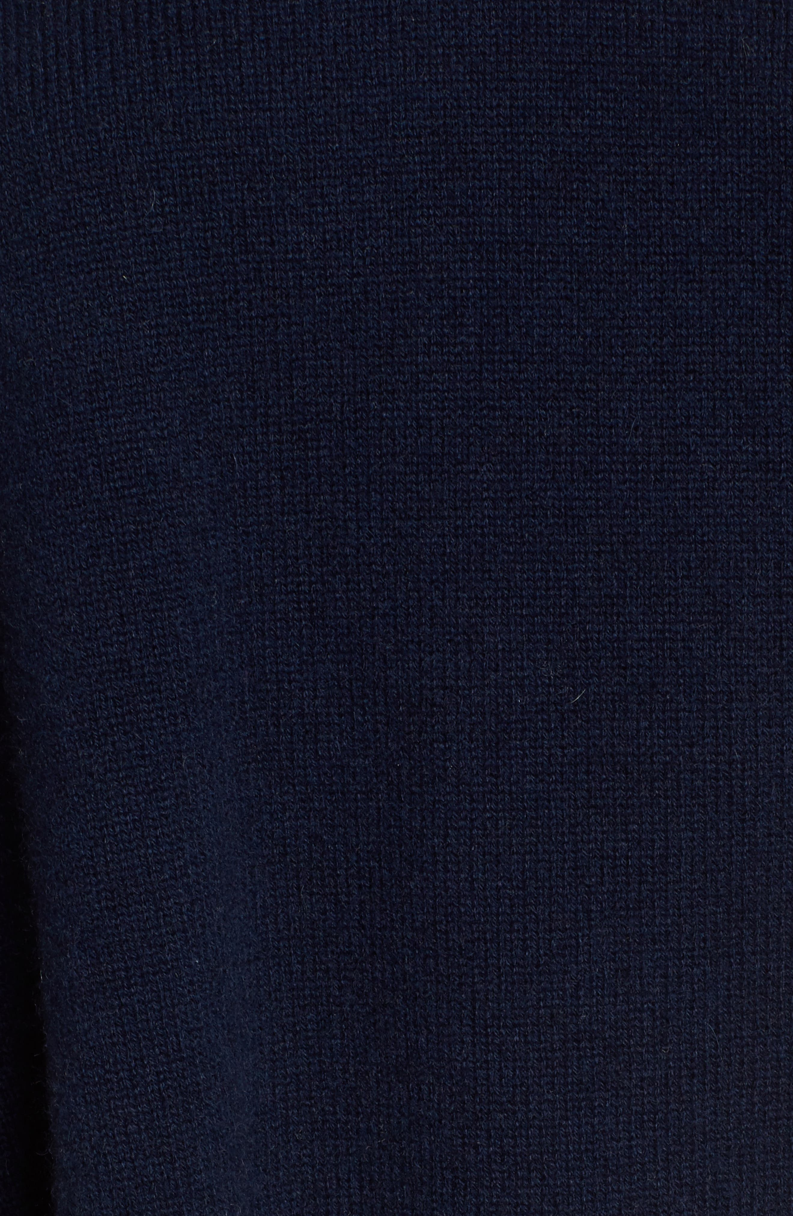 Cashmere High/Low Tunic Sweater,                             Alternate thumbnail 5, color,                             Navy Medieval