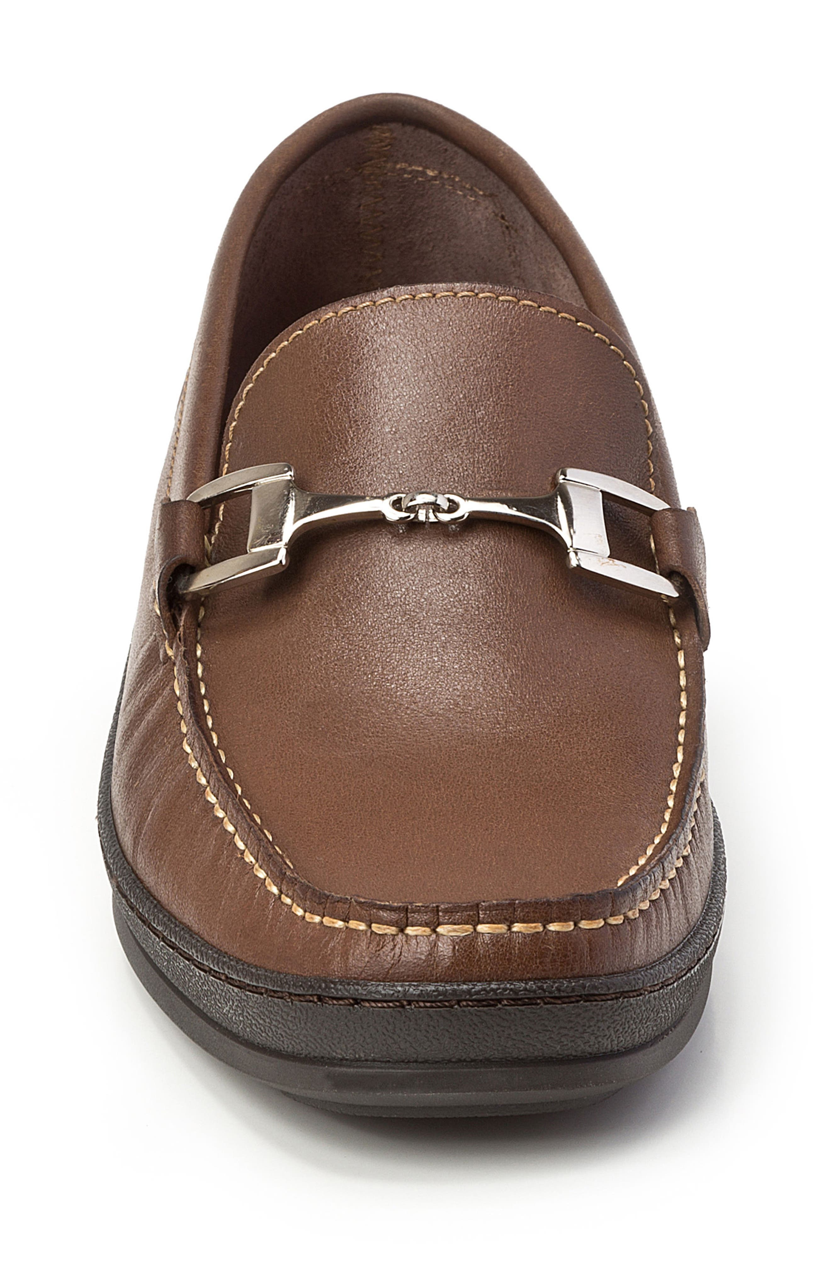 Navarro Bit Loafer,                             Alternate thumbnail 4, color,                             Brown Leather