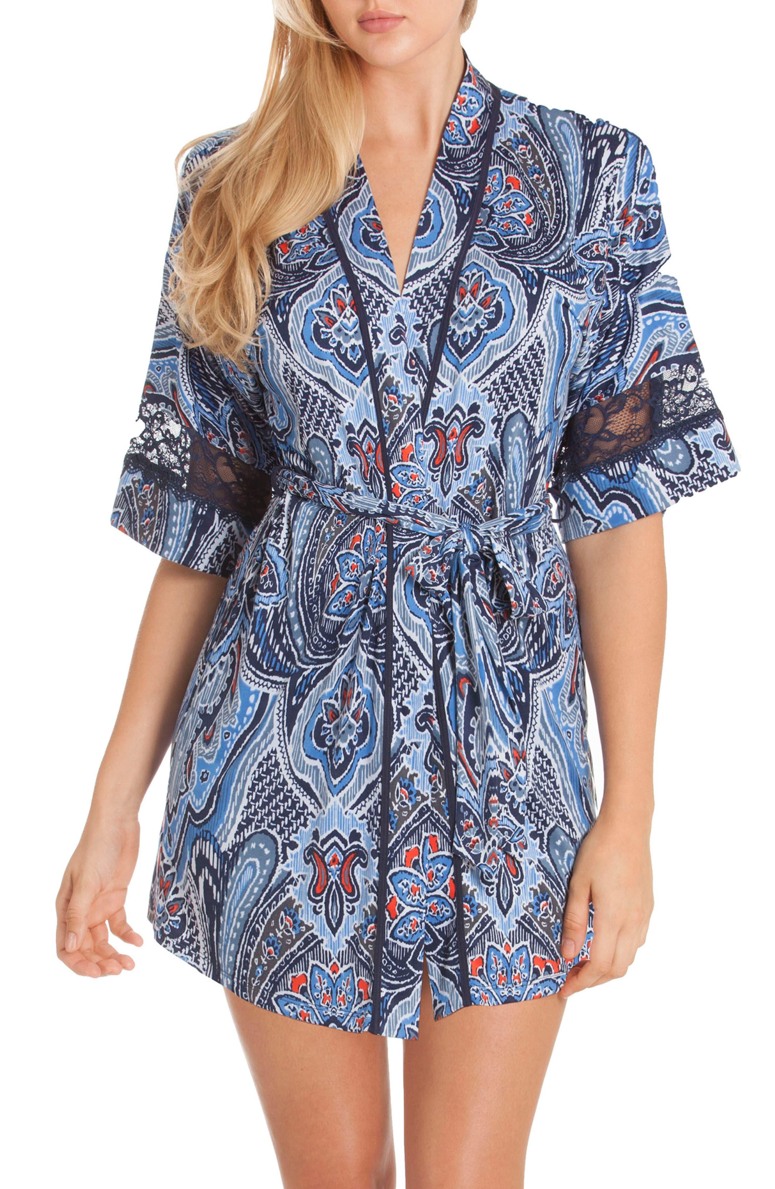 Short Robe,                         Main,                         color, Denim Blue