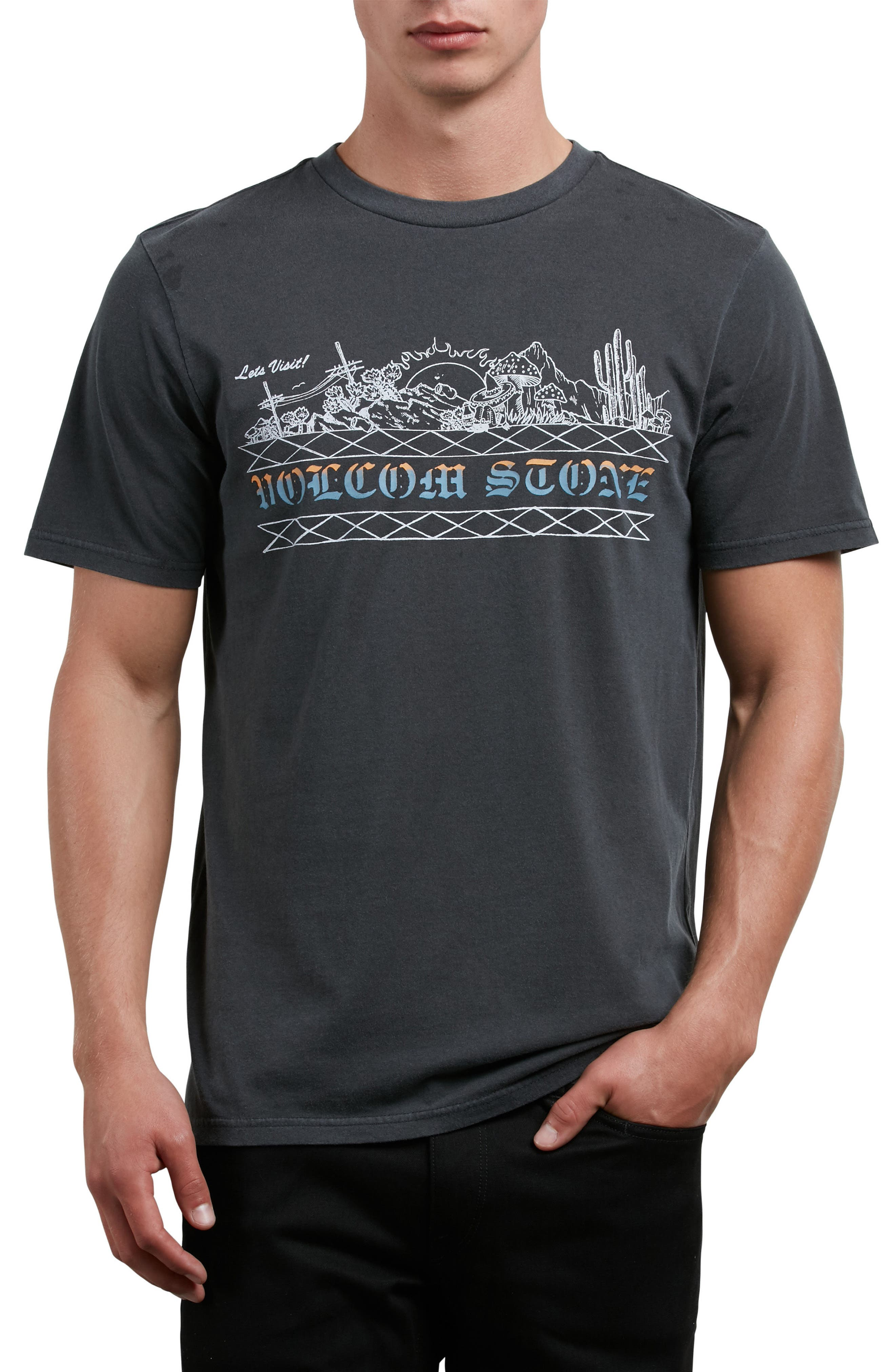 Alternate Image 1 Selected - Volcom Let's Visit Graphic T-Shirt