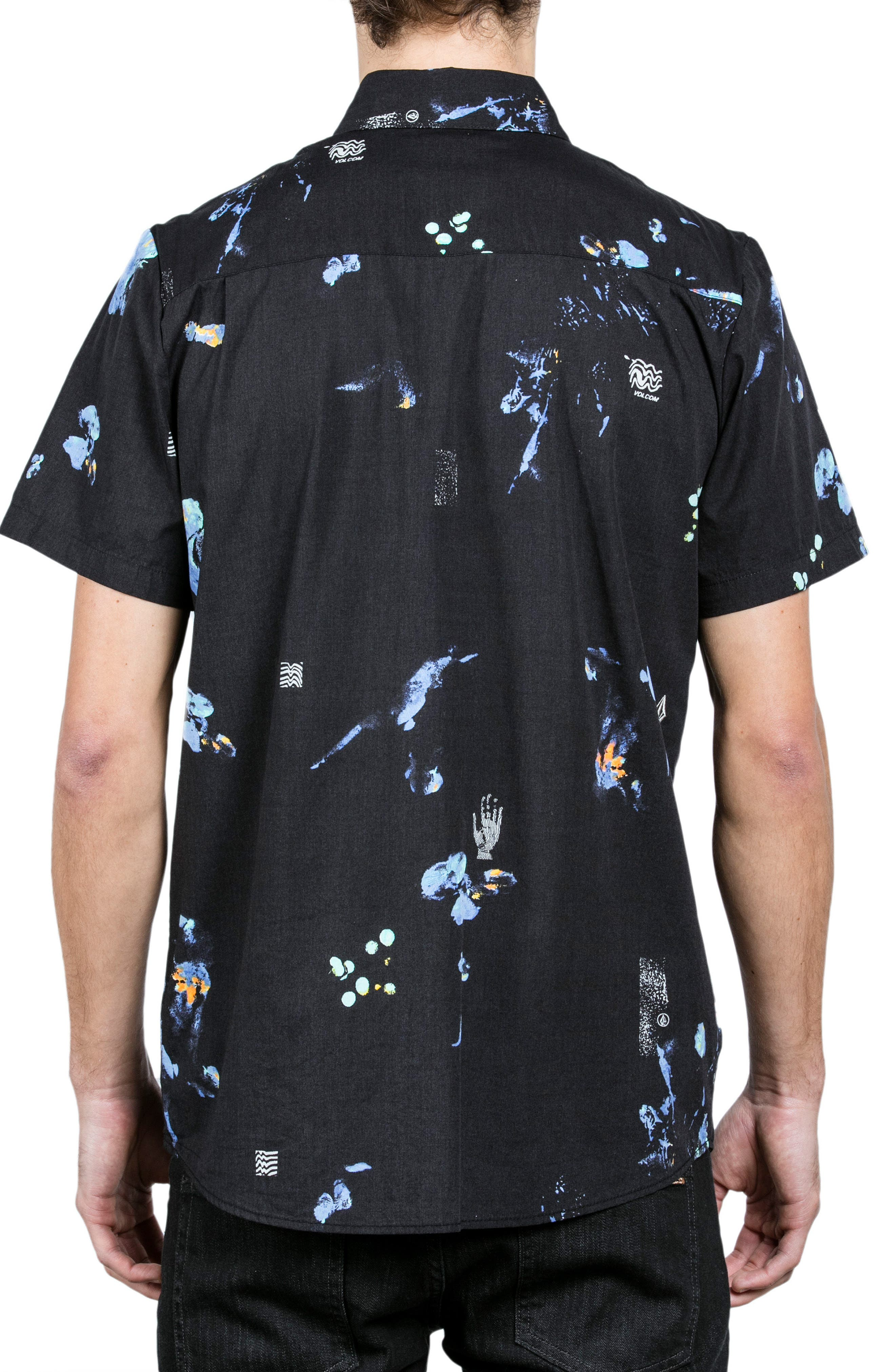Oblivion Woven Shirt,                             Alternate thumbnail 2, color,                             Black