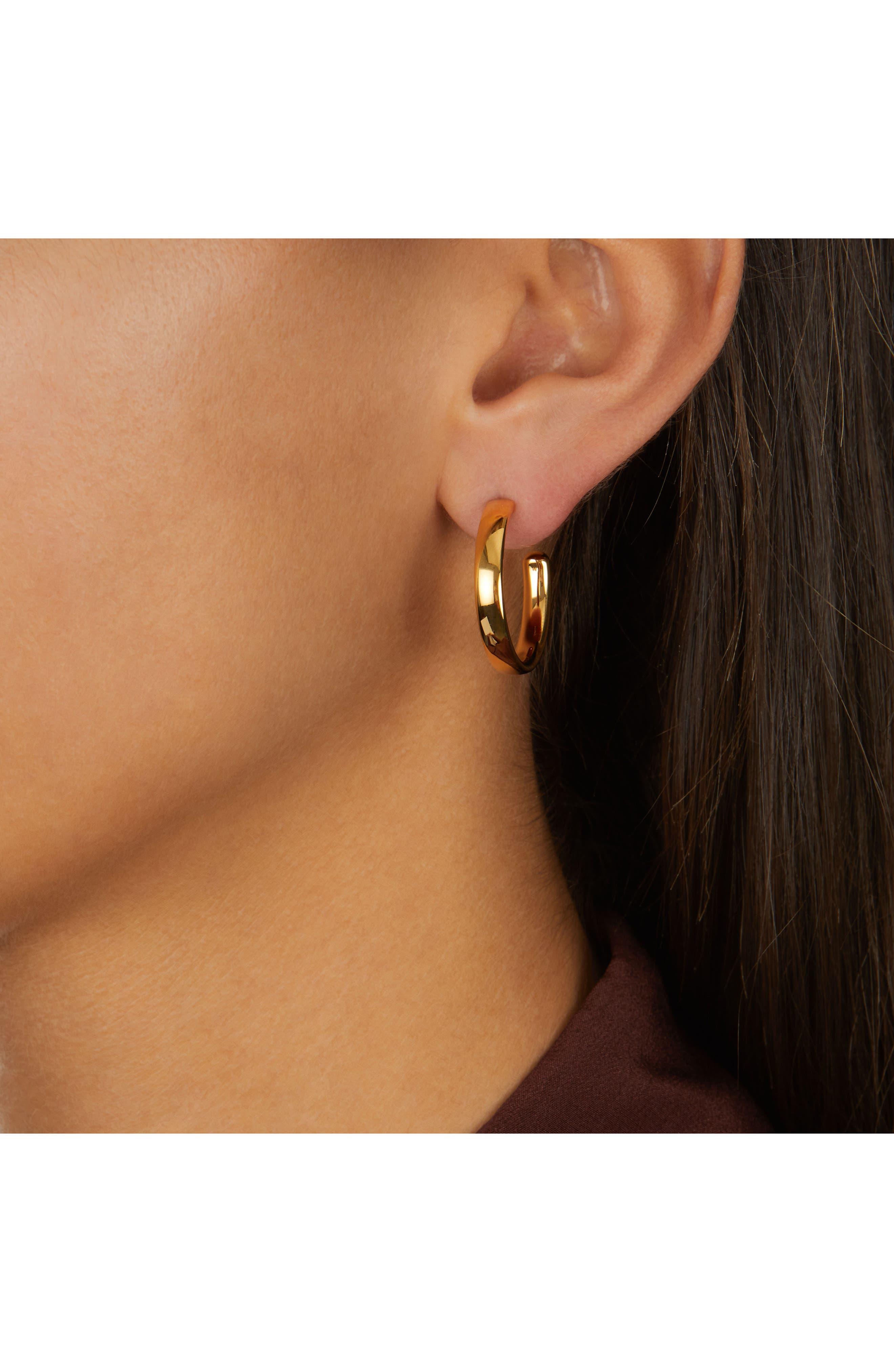 Alternate Image 2  - Monica Vinader Fiji Large Hoop Earrings