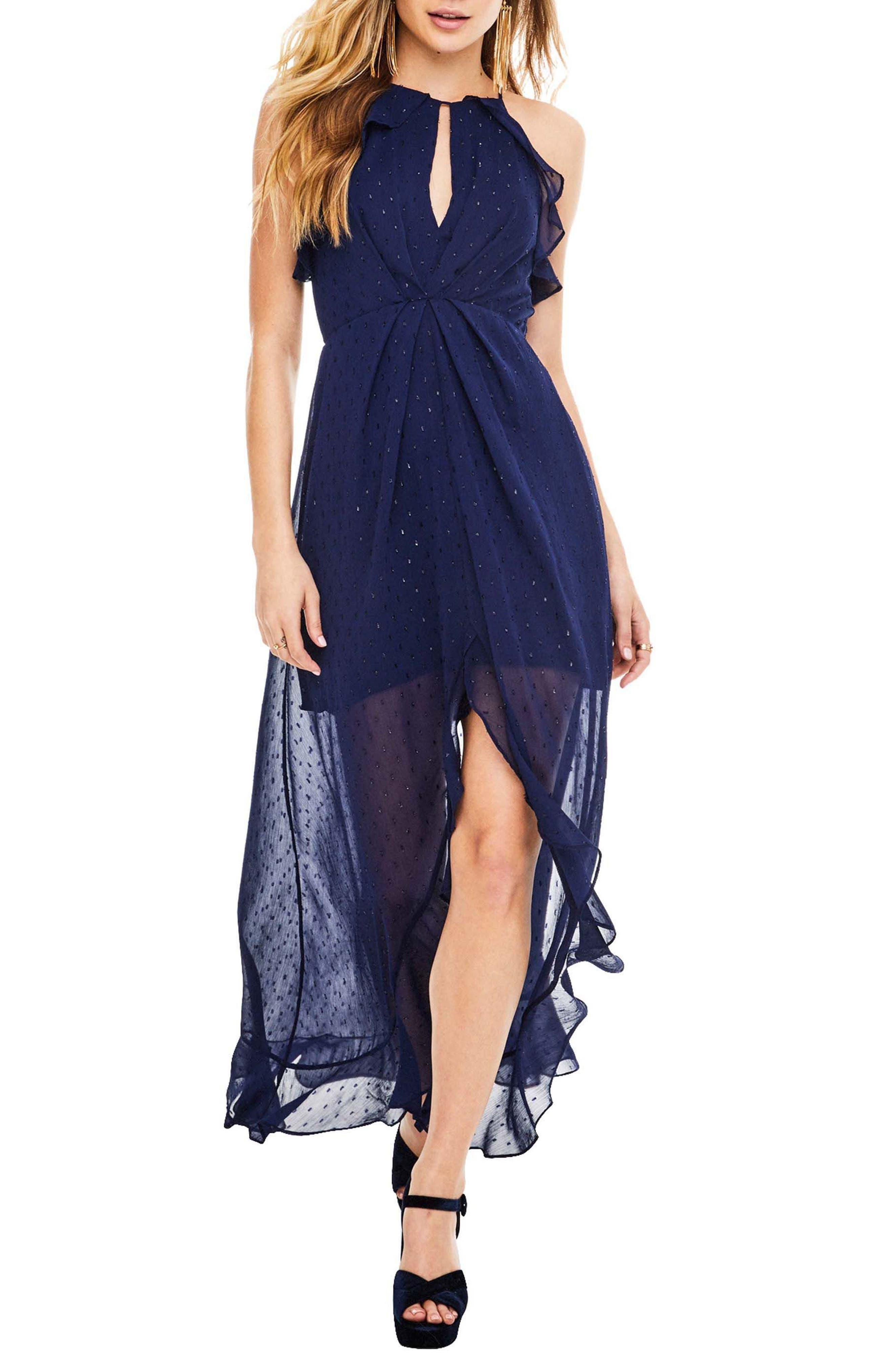 Arielle Maxi Dress,                         Main,                         color, Navy Sparkle