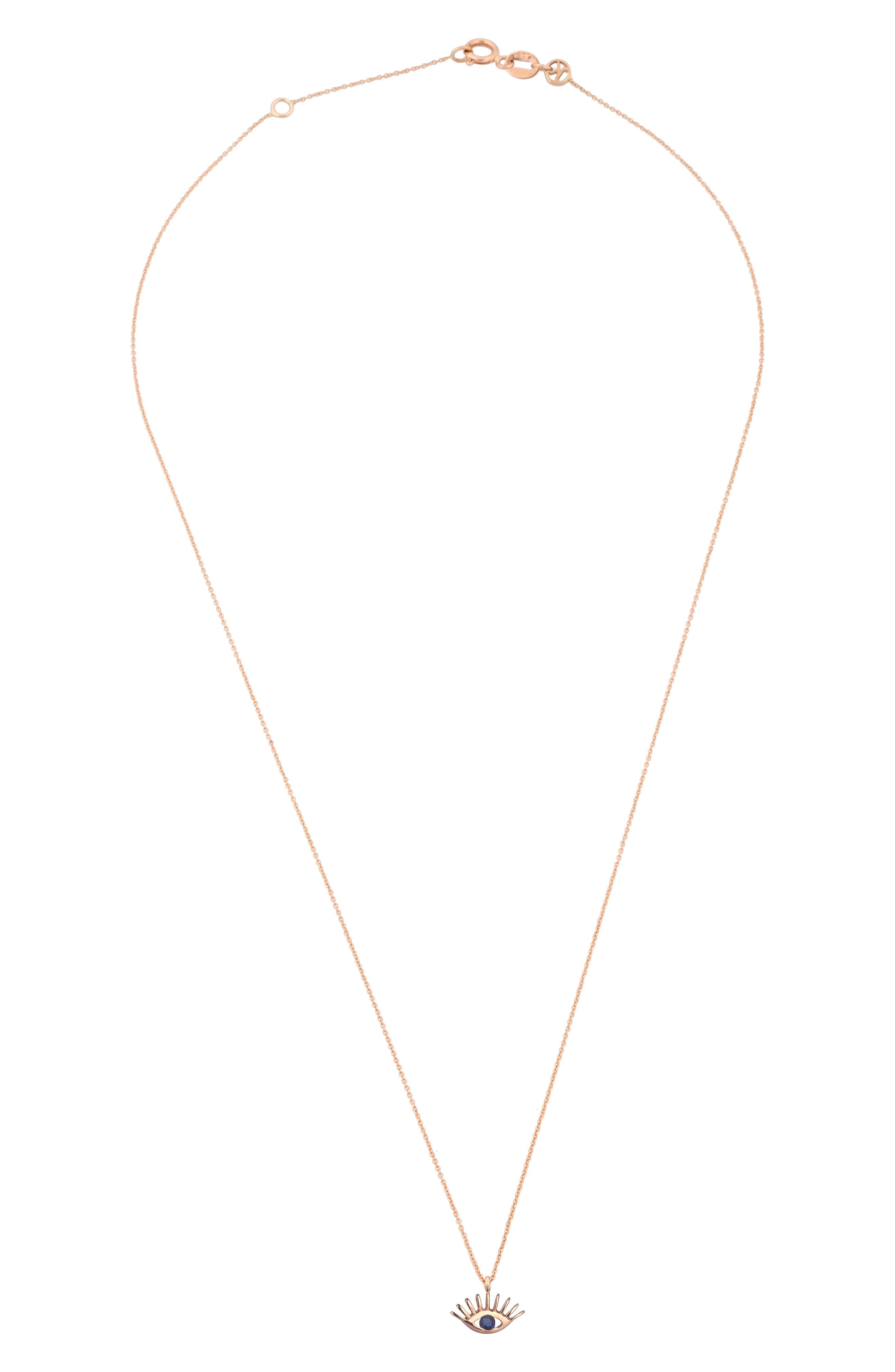 Alternate Image 2  - Kismet by Milka Sapphire Pendant Necklace