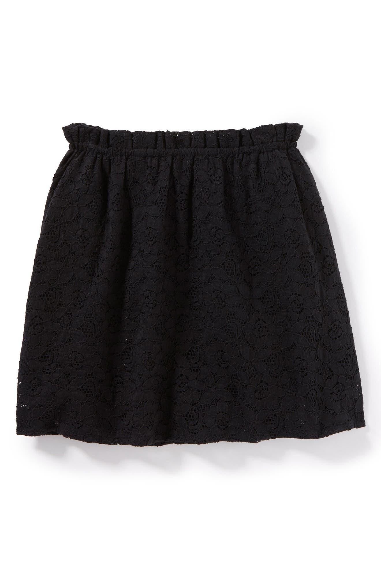 Renee Lace Skirt,                         Main,                         color, Black