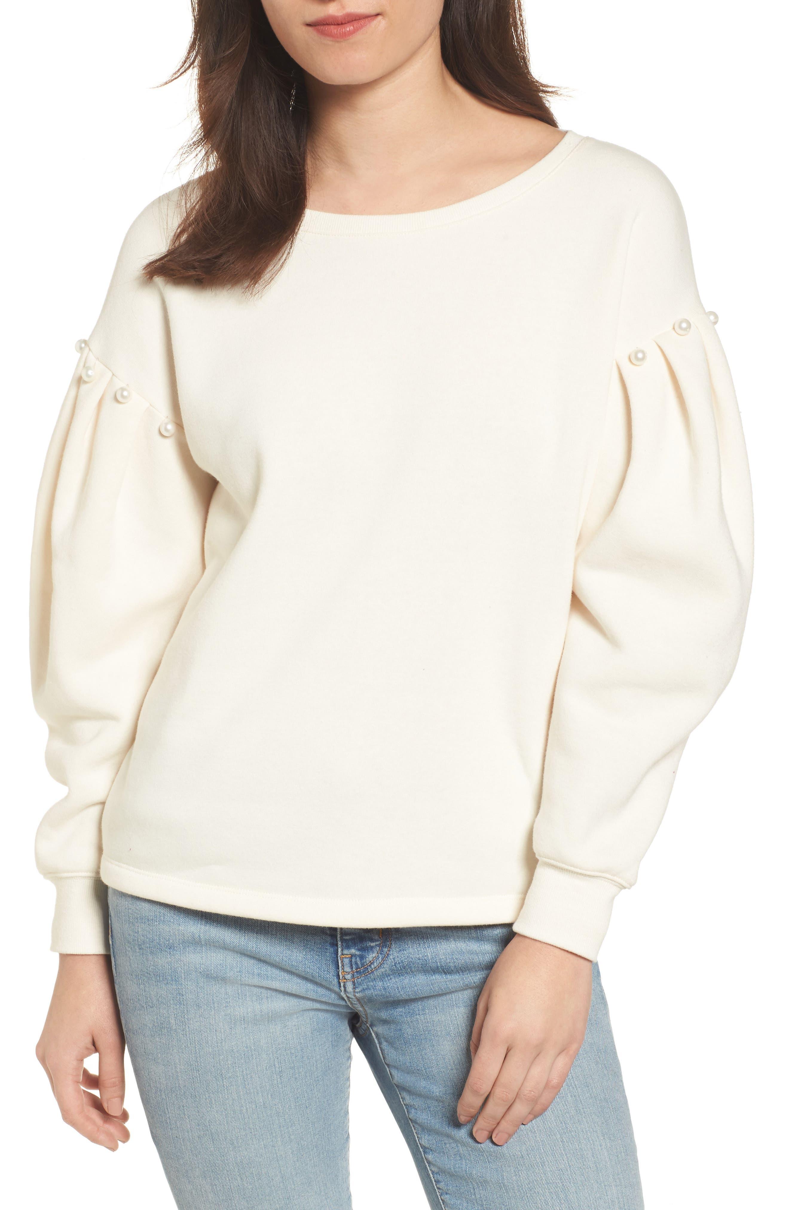 Ellison Sweatshirt,                         Main,                         color, Off White
