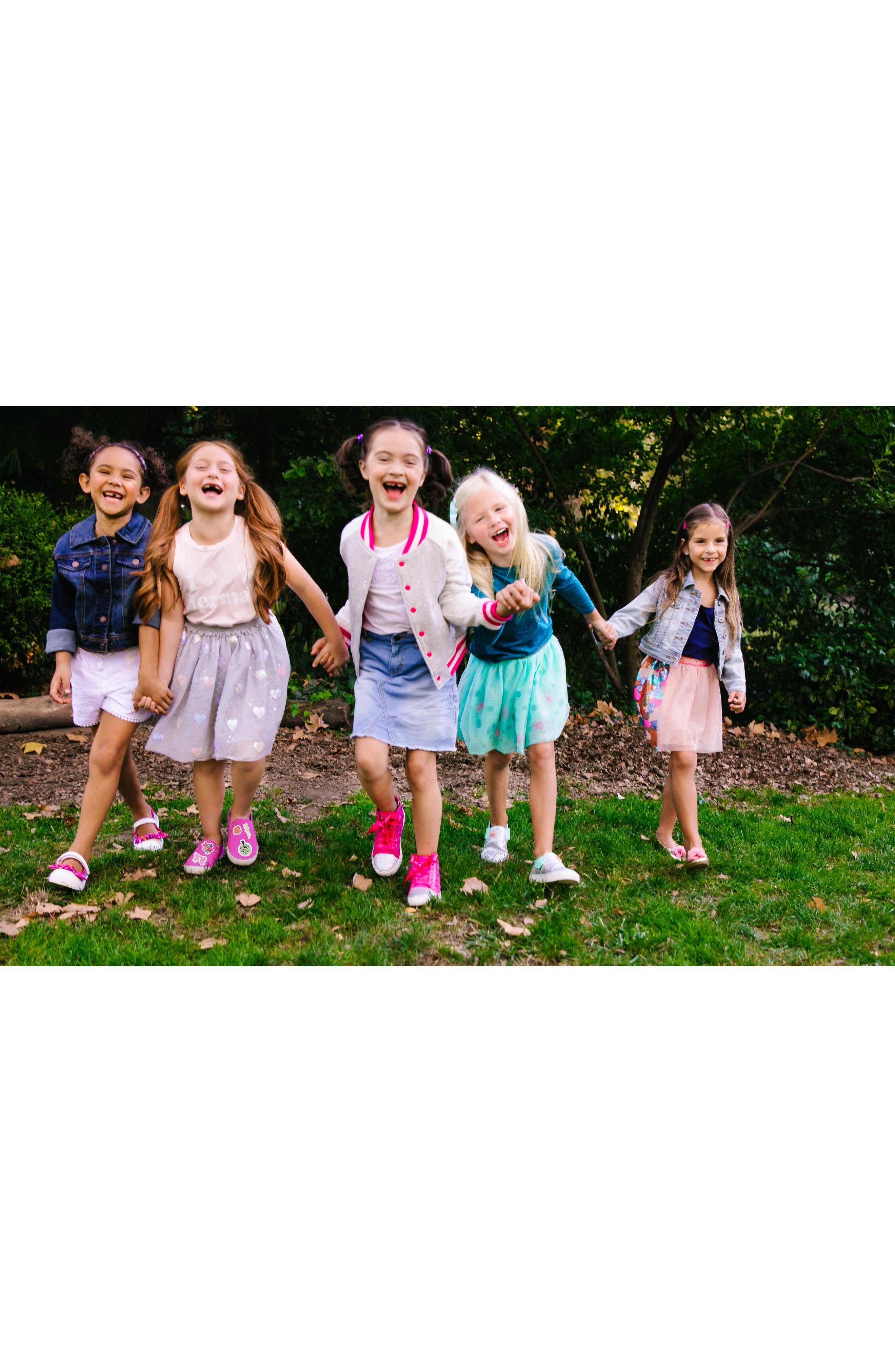 Alternate Image 10  - WellieWishers from American Girl Ashlyn Flower Strap Ballet Flat (Walker & Toddler)