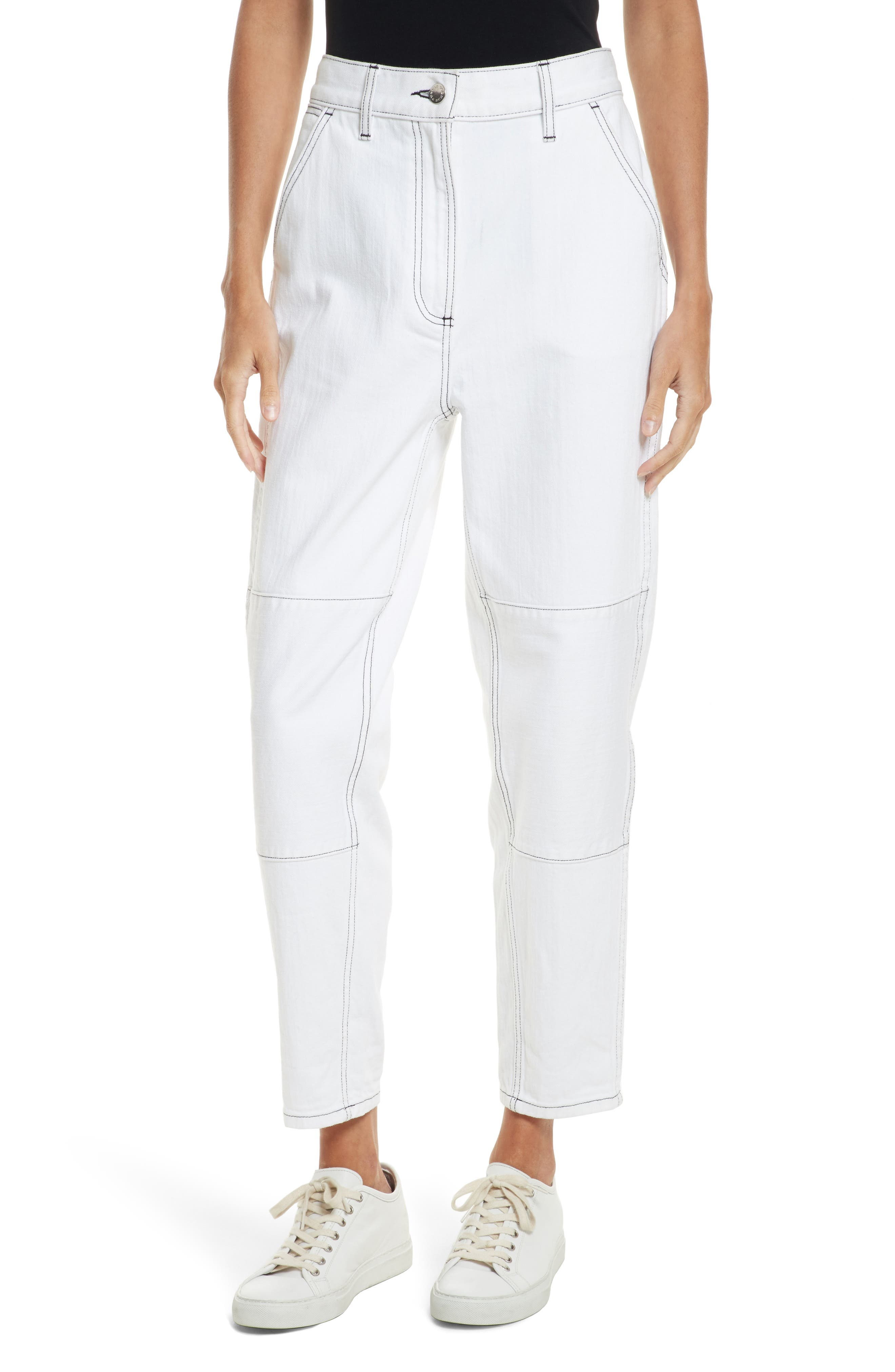 Pamela Ankle Jeans,                         Main,                         color, White