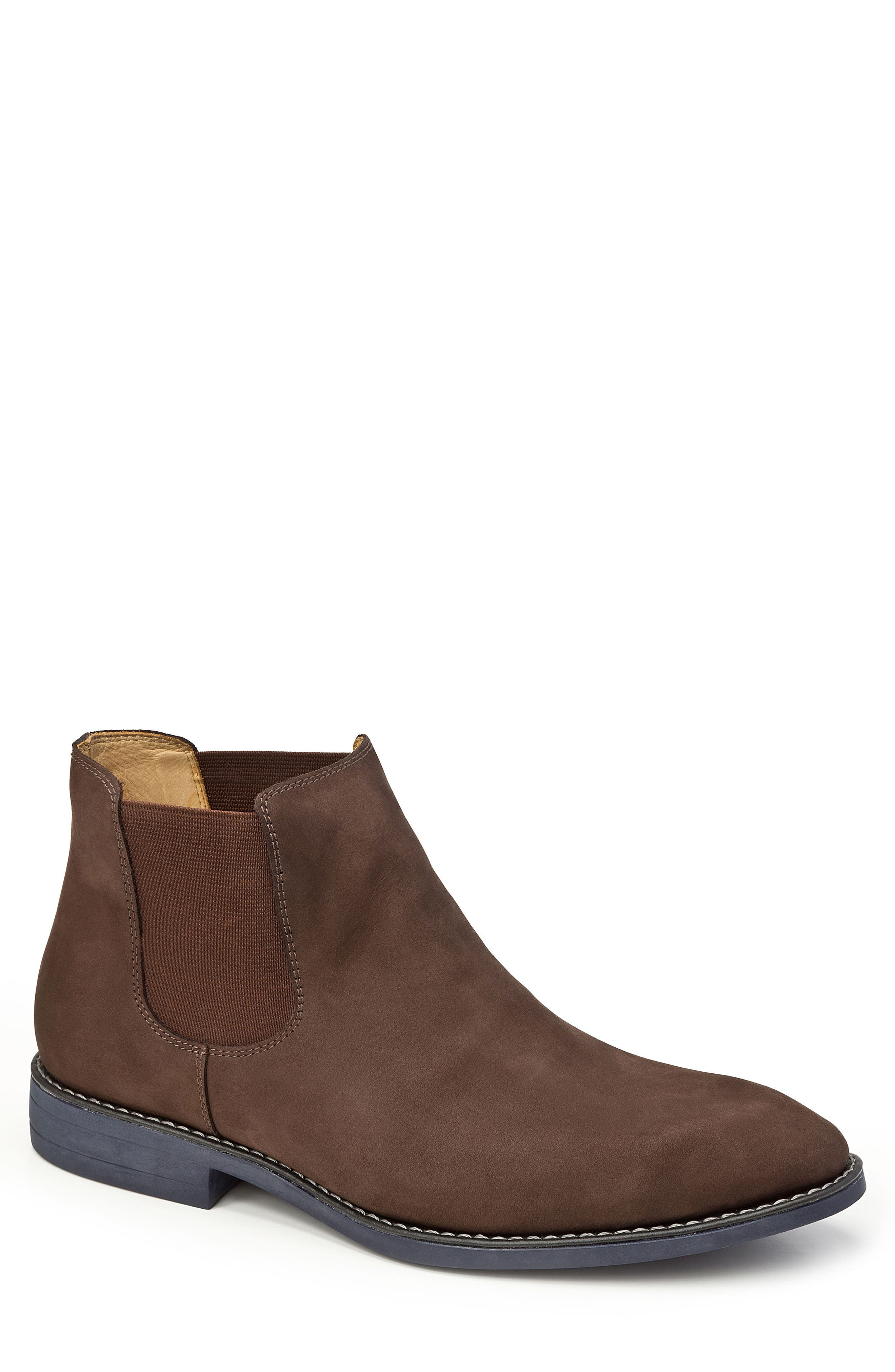 Marcus Chelsea Boot,                         Main,                         color, Brown Nubuck Leather