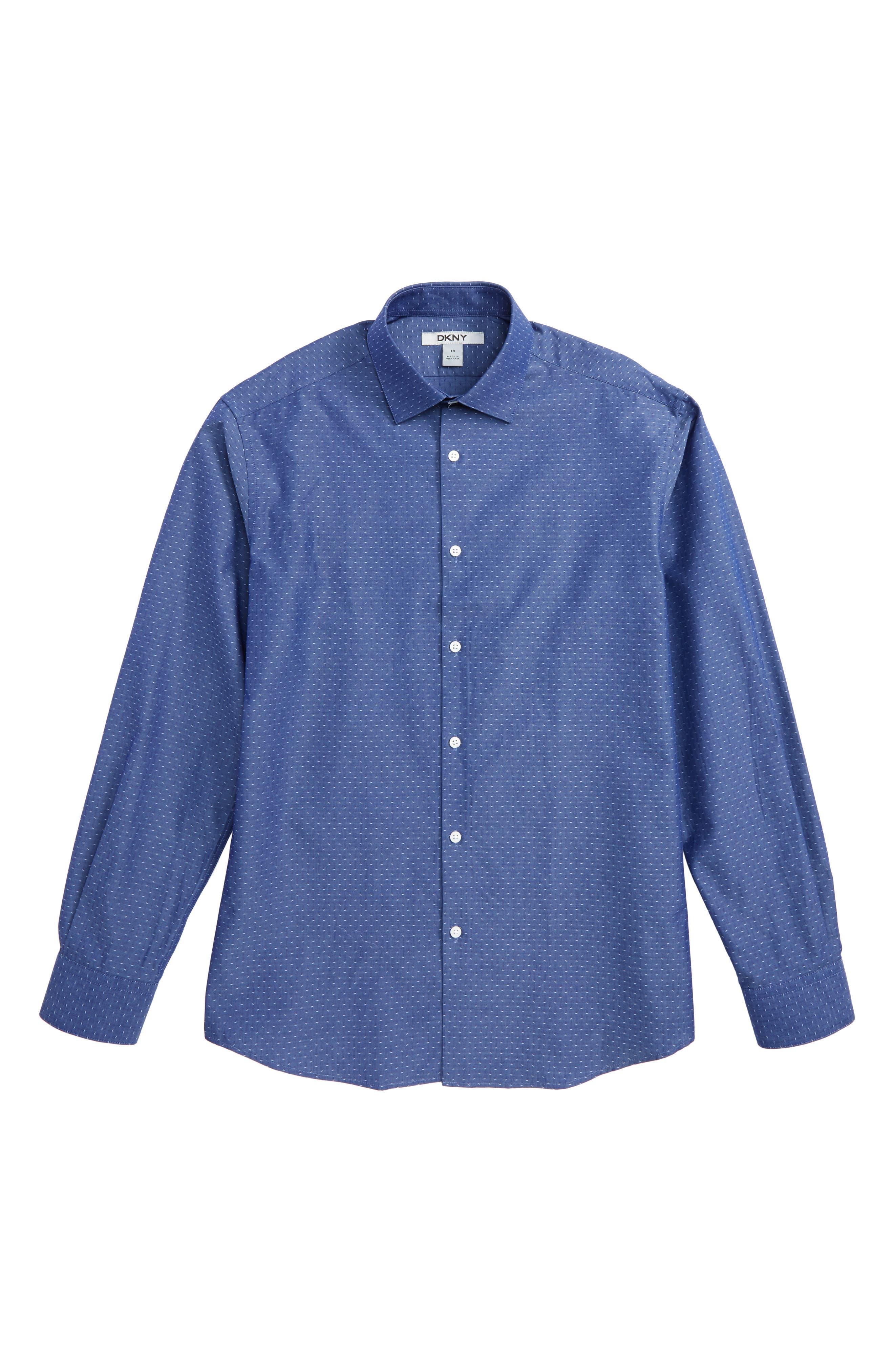 Dobby Dress Shirt,                             Main thumbnail 1, color,                             Blue