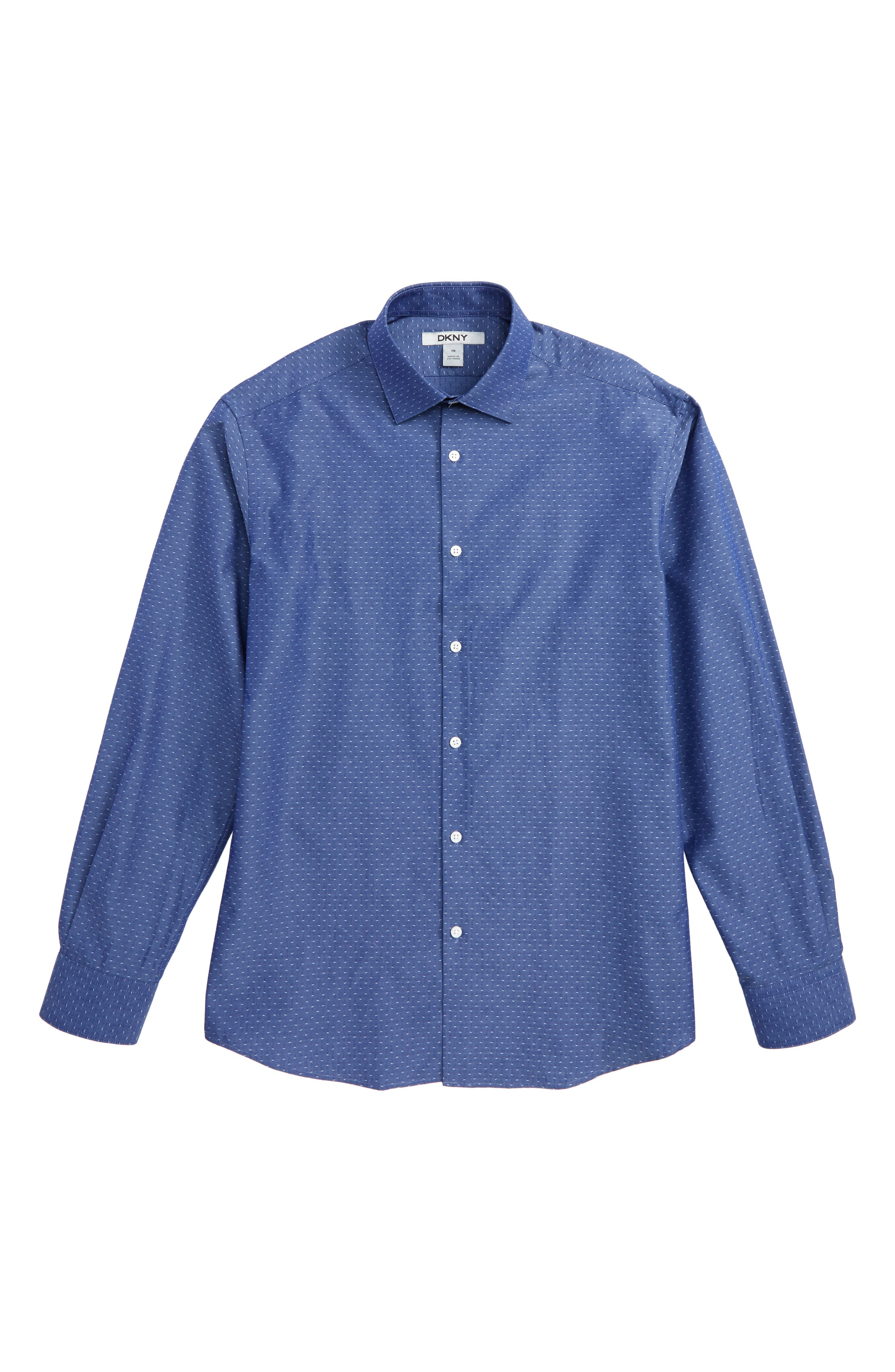 Dobby Dress Shirt,                         Main,                         color, Blue